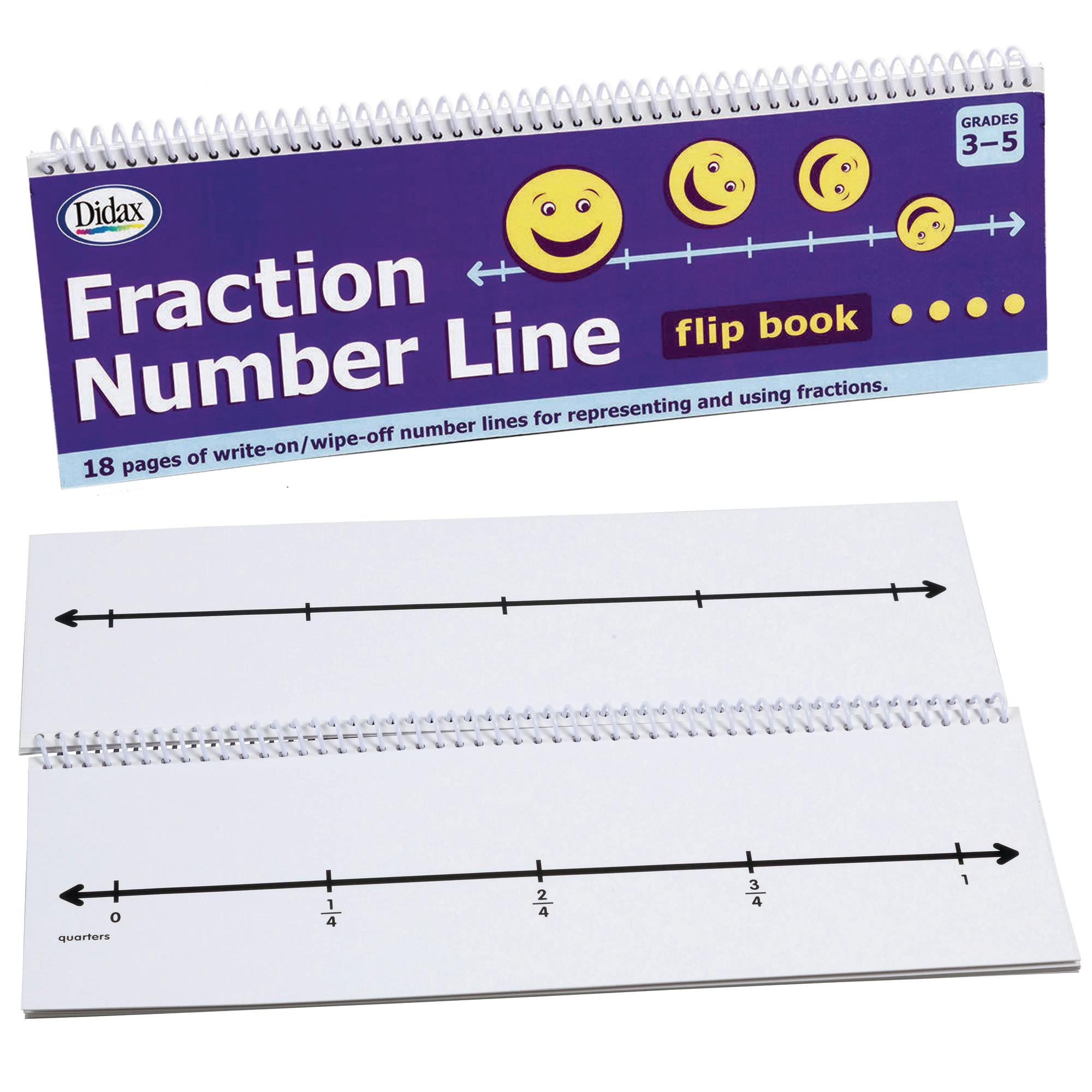 Fraction Number Line Flip Book