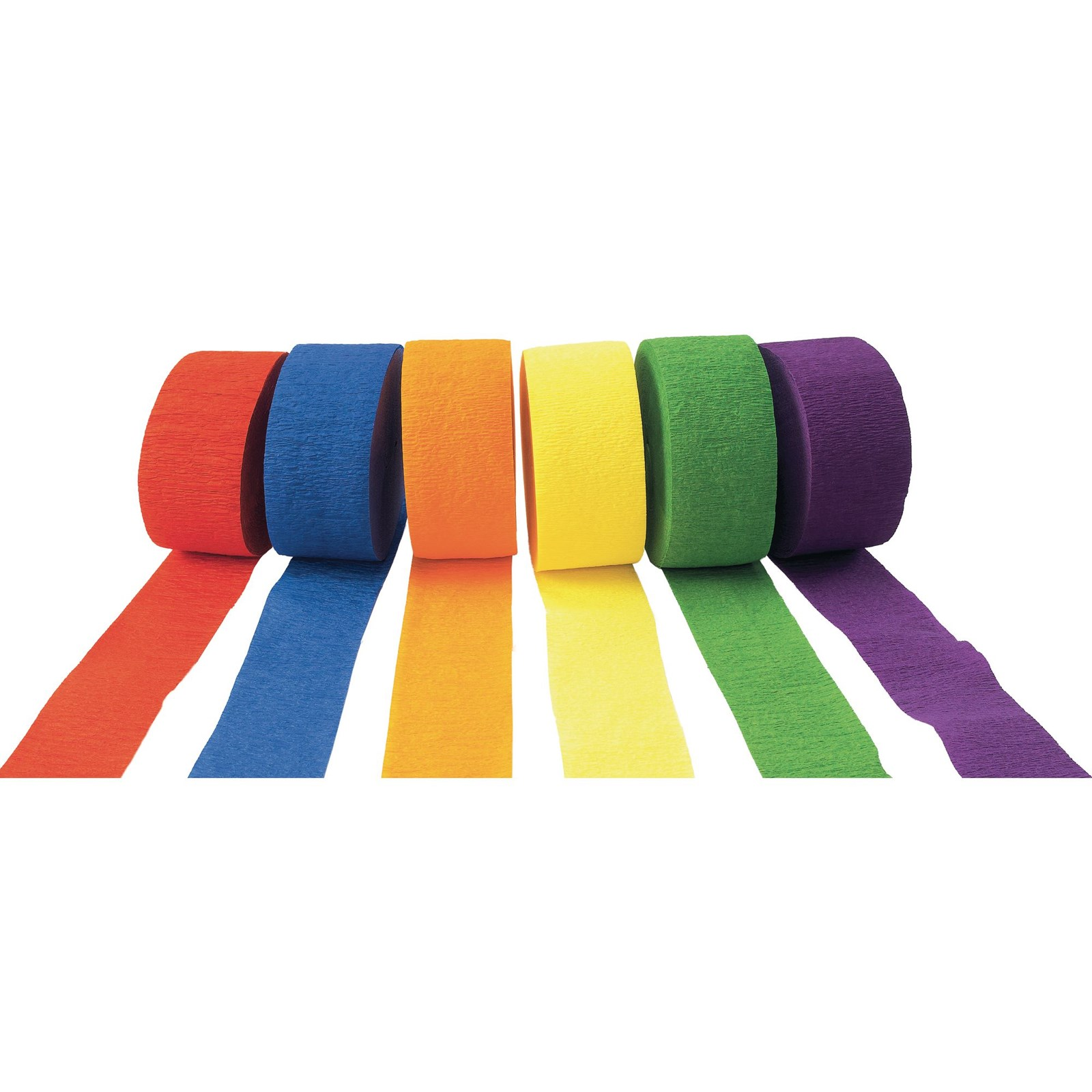Crepe Paper Streamers - Brights