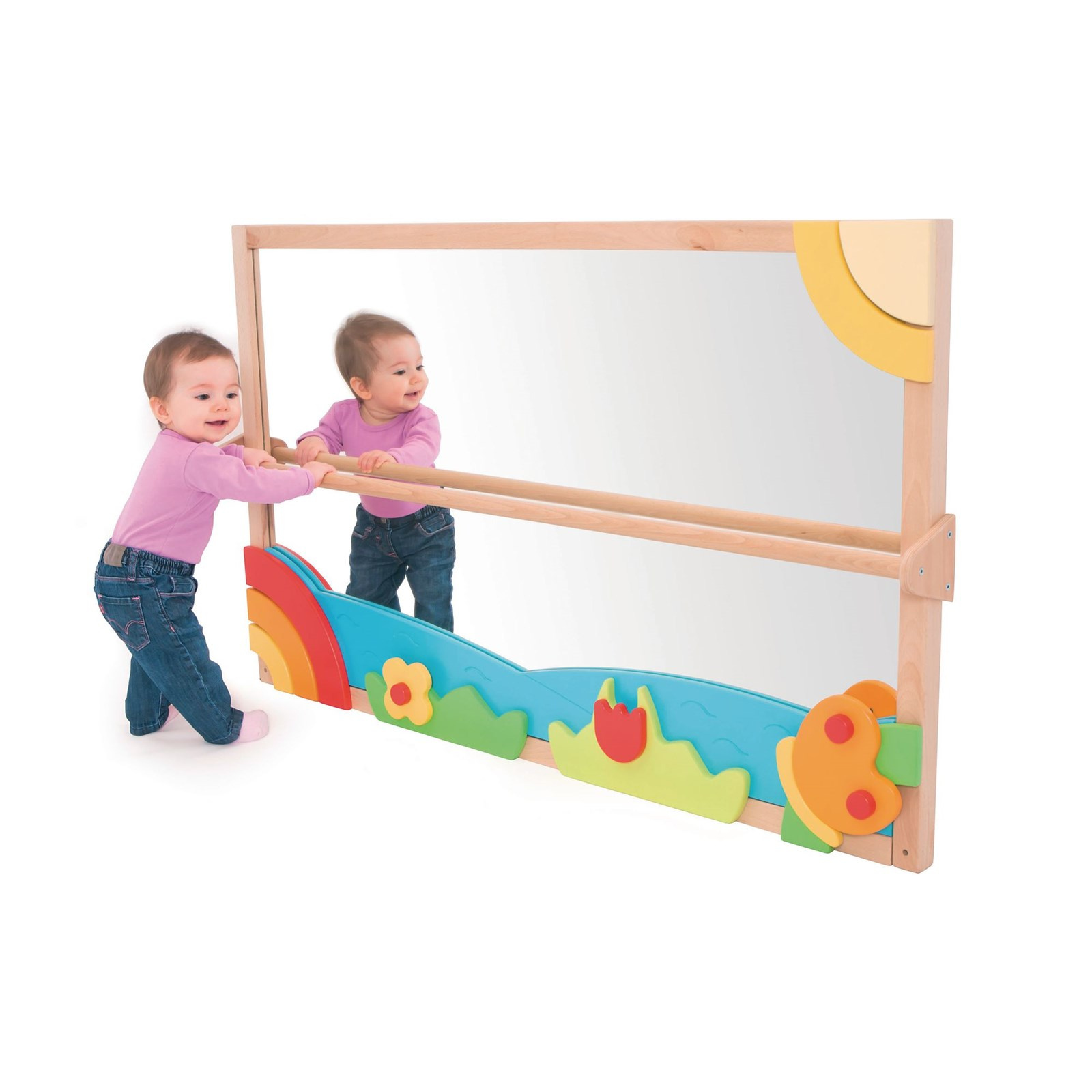 Playscapes Large Pull Up And Play Toddler Mirror