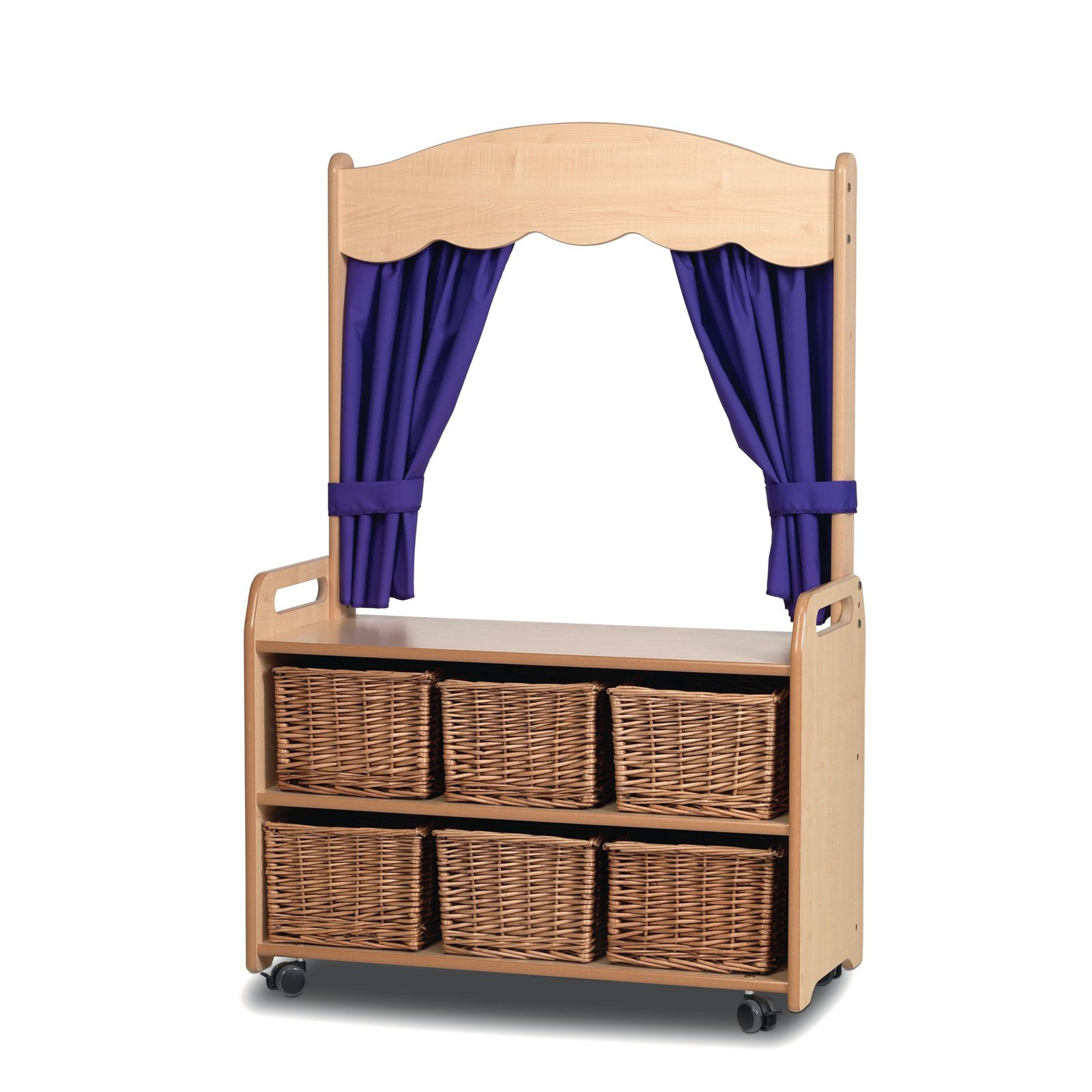 Playscapes Mobile Tall Unit Theatre 6 Wicker Basket