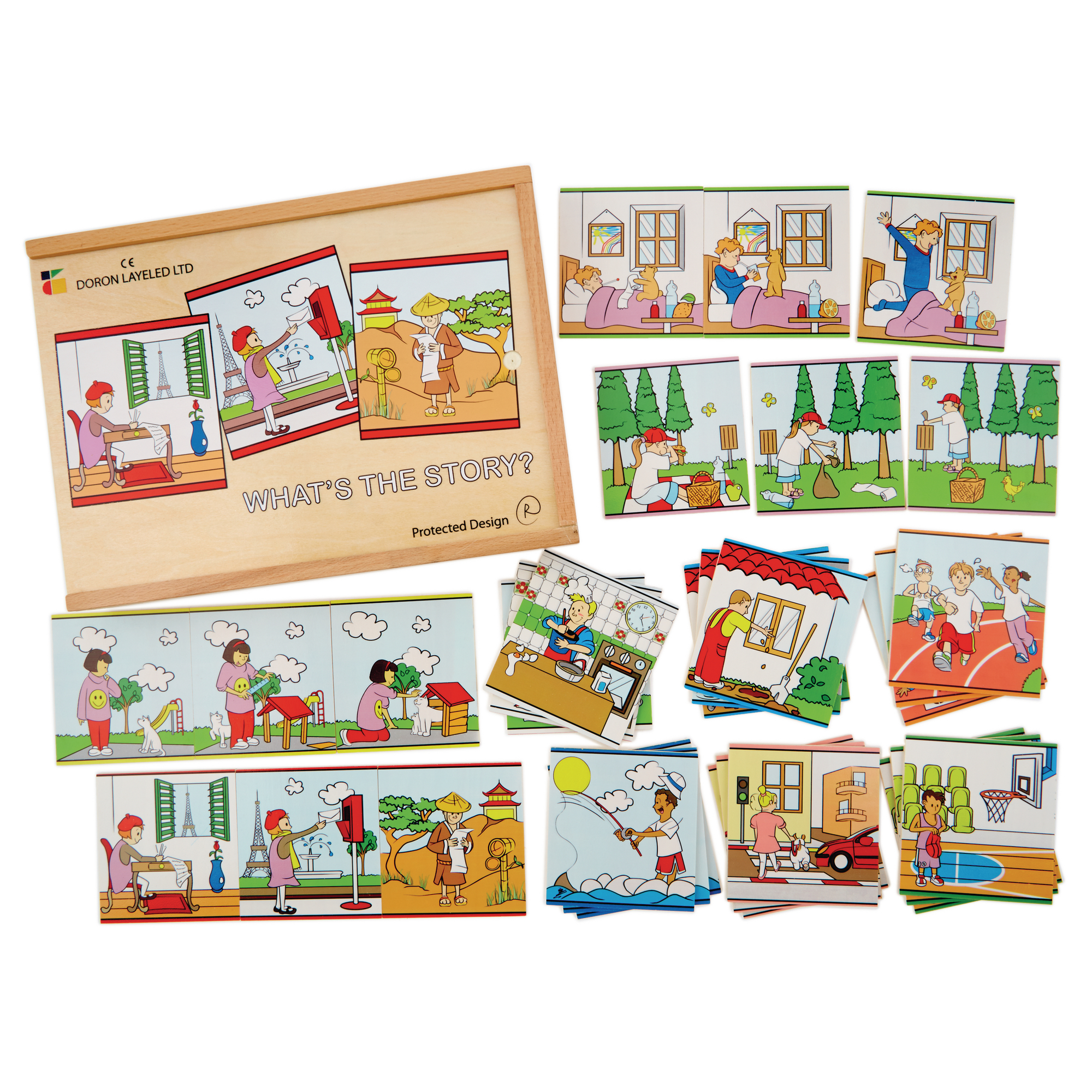 This is a picture of Trust Story Sequence Cards