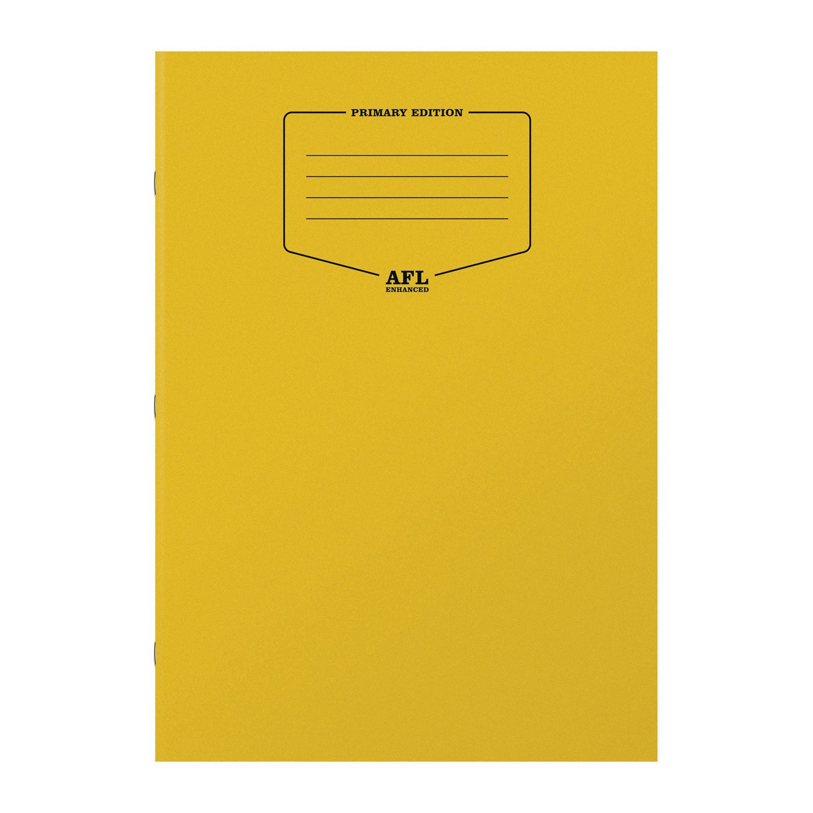 A4 AFL Enhanced Exercise Books  - Yellow