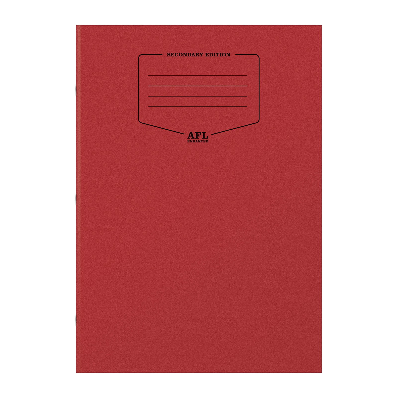 A4 AFL Enhanced Exercise Books  - Red