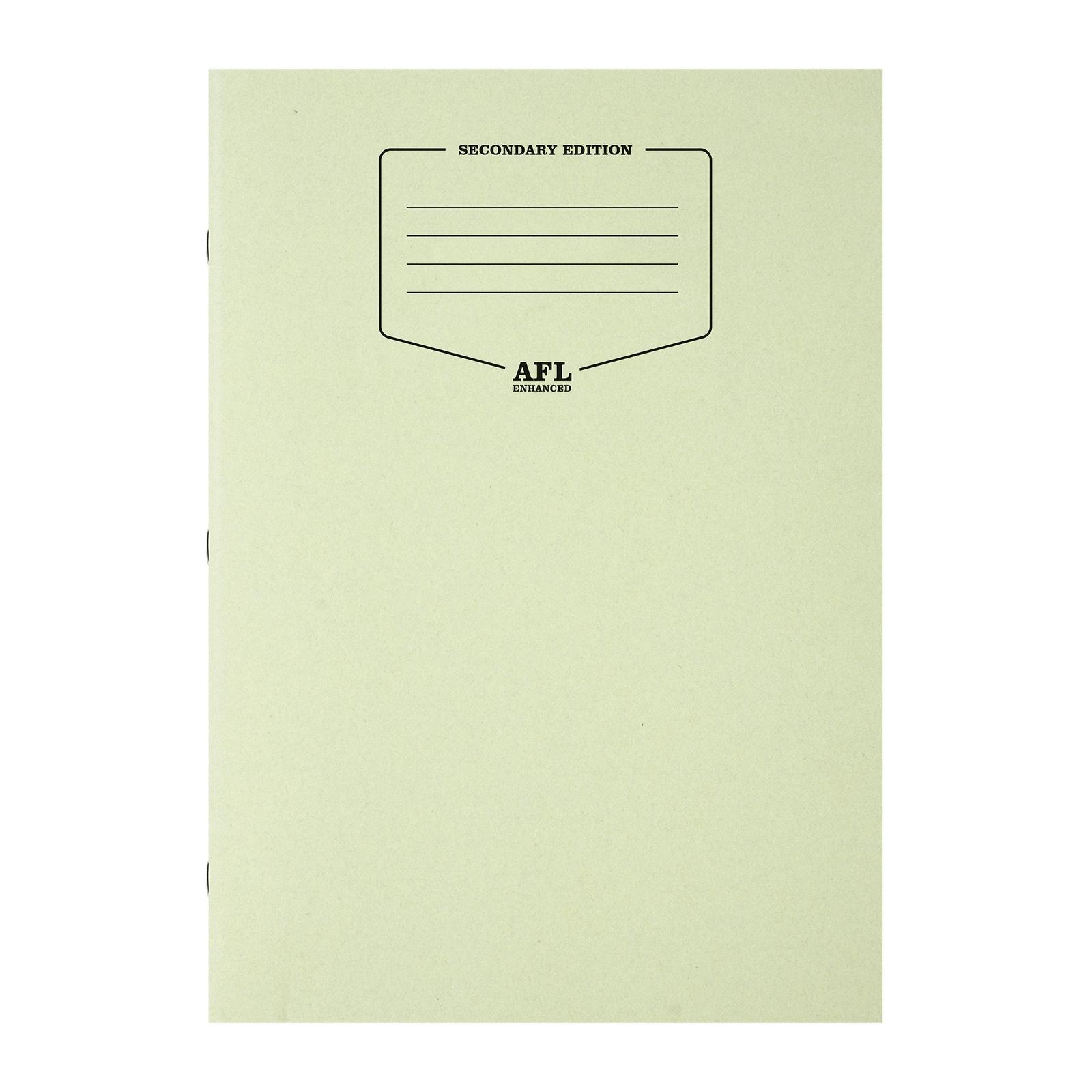A4 AFL Enhanced Exercise Books  - Green