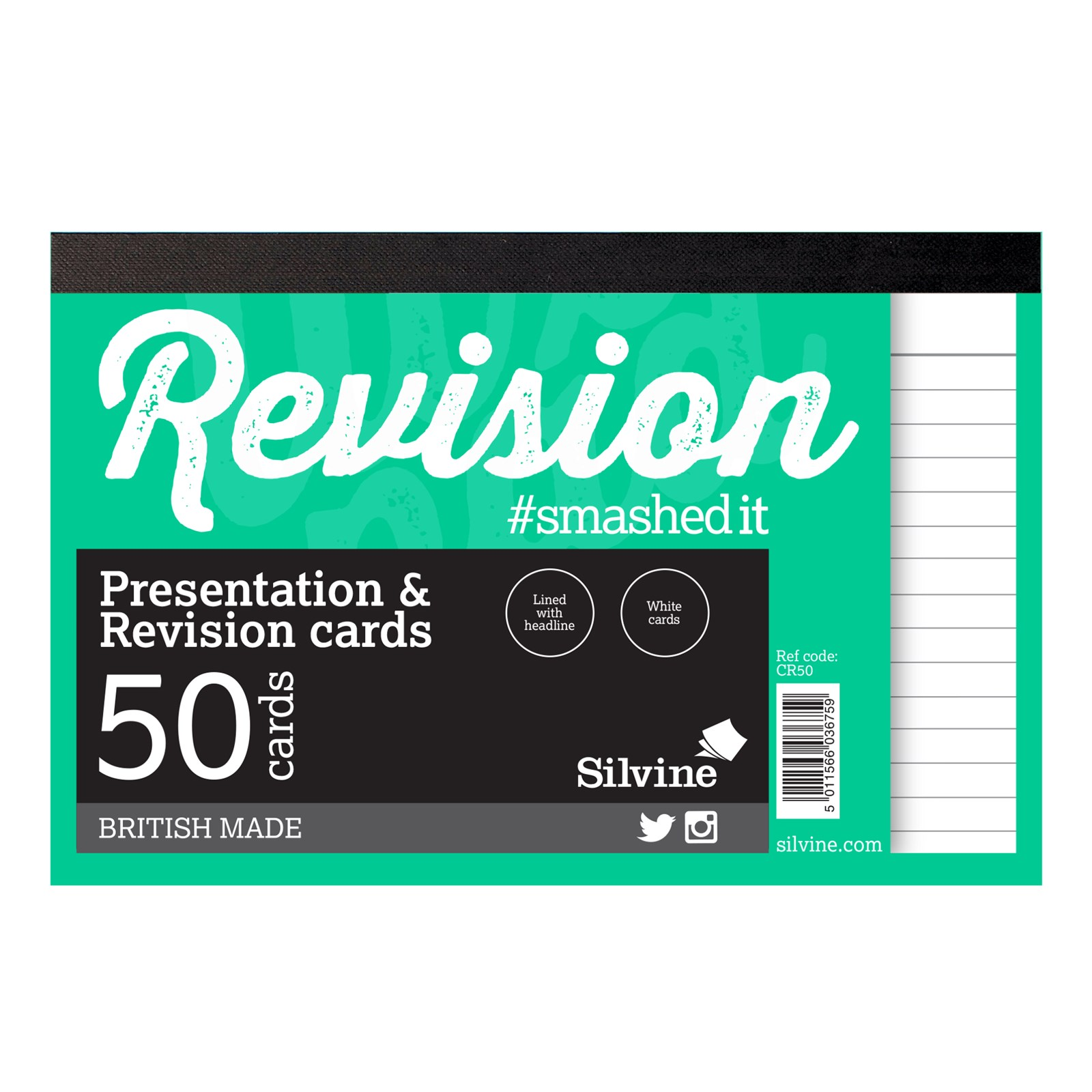 """Revision/Presentation 6"""" x 4"""" 50 Cards- Pack of 20"""