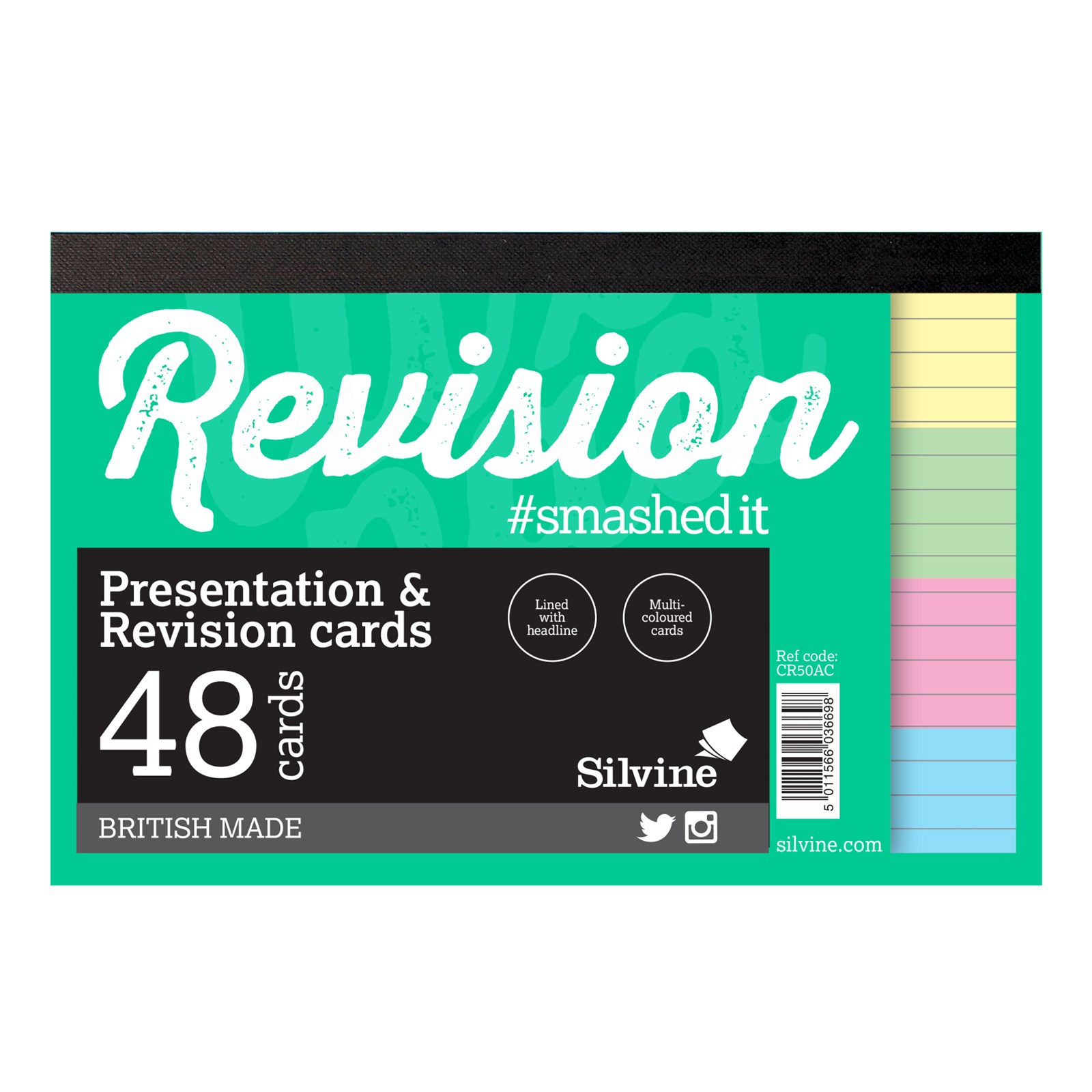 """Revision/Presentation 6"""" x 4"""" 48 Cards- Pack of 20"""