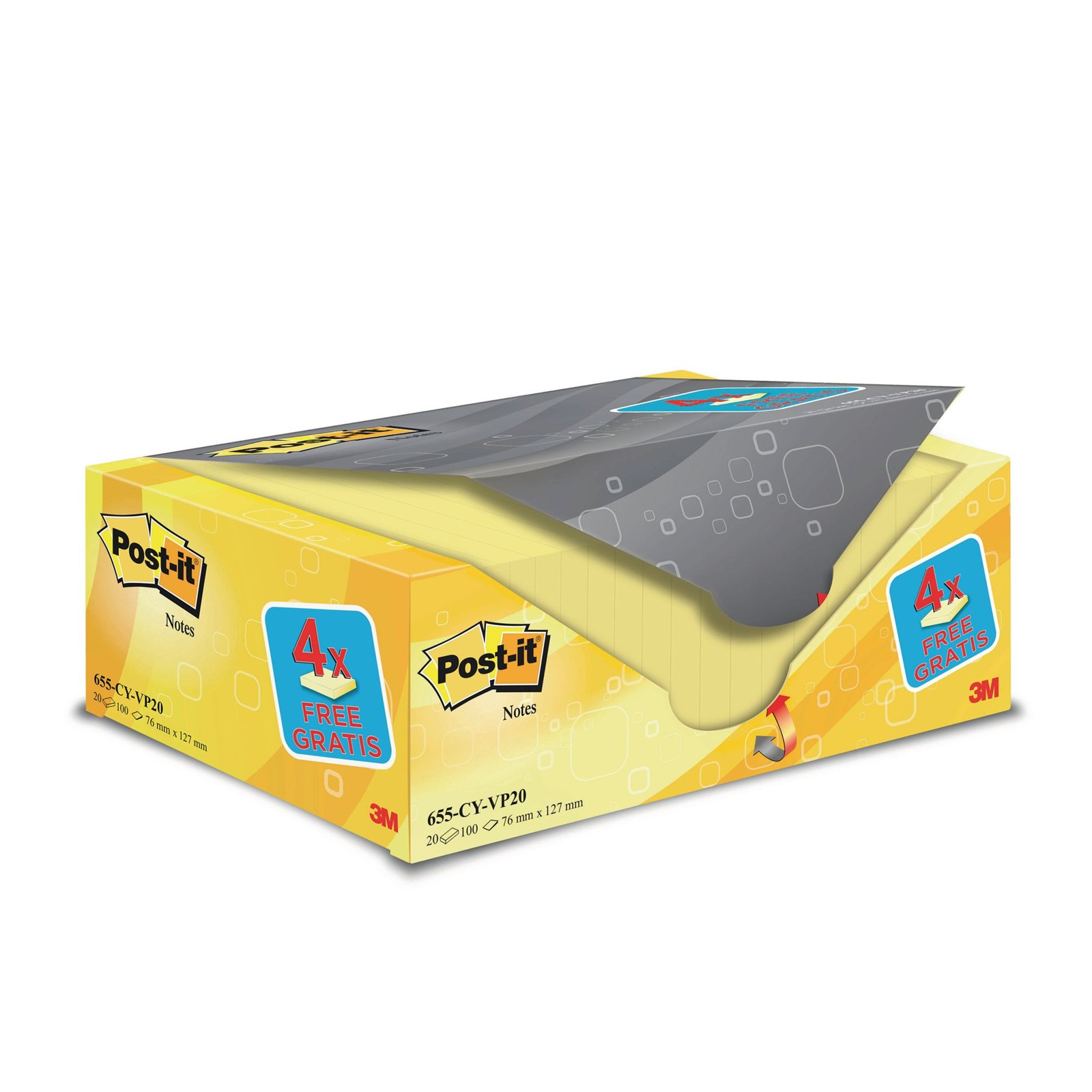 Post-it®Note Value Pack - 76 x 127mm