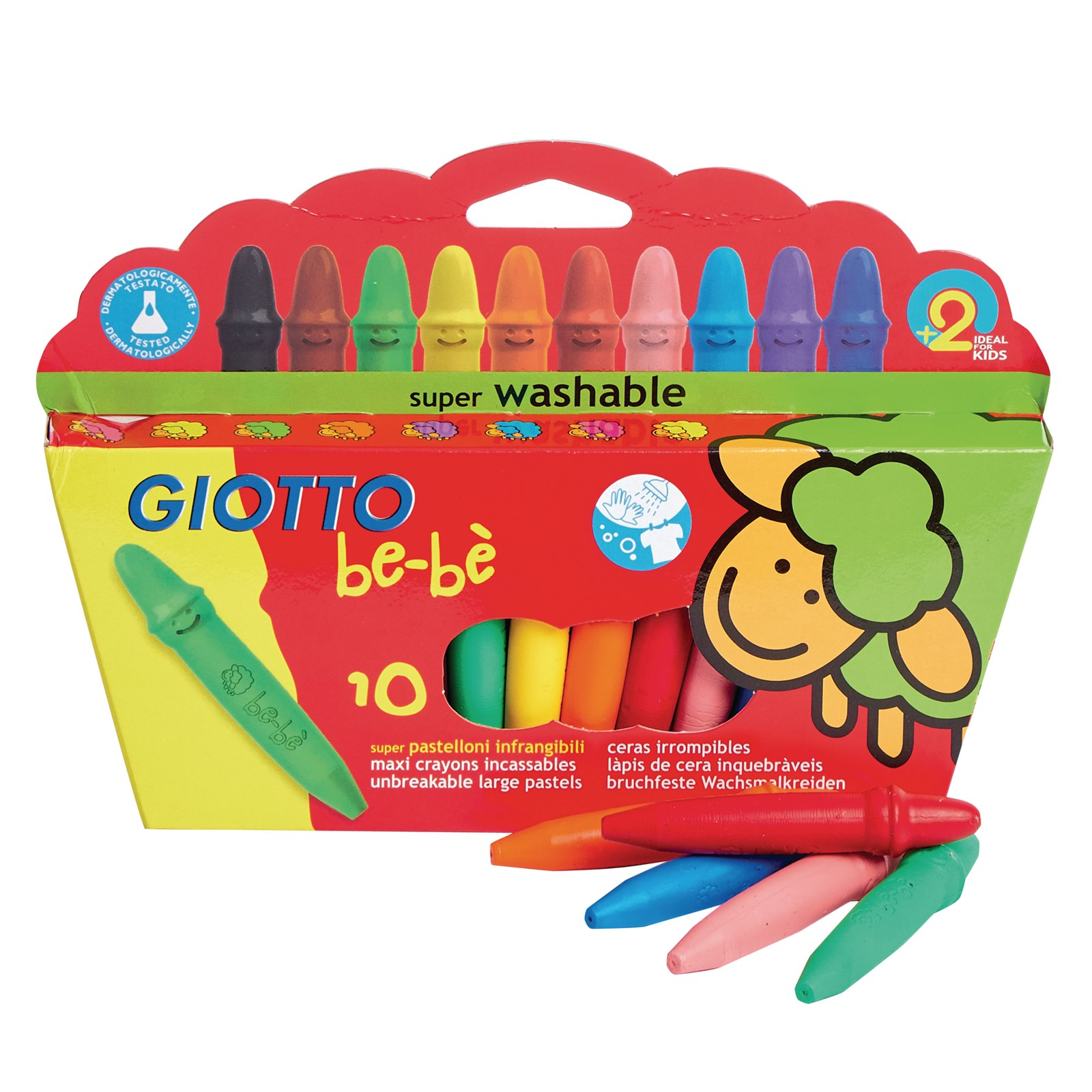 Giotto Bebe Super Wax Crayons Pack of 10