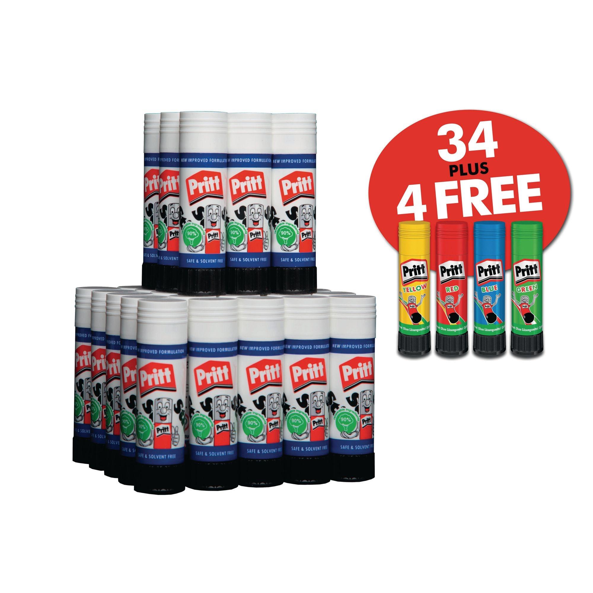 Pritt 43g X34x 4 Free Rainbow Sticks ?