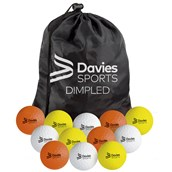 Davies Sports Practice Hockey Ball Set - Dimpled - Pack of 24