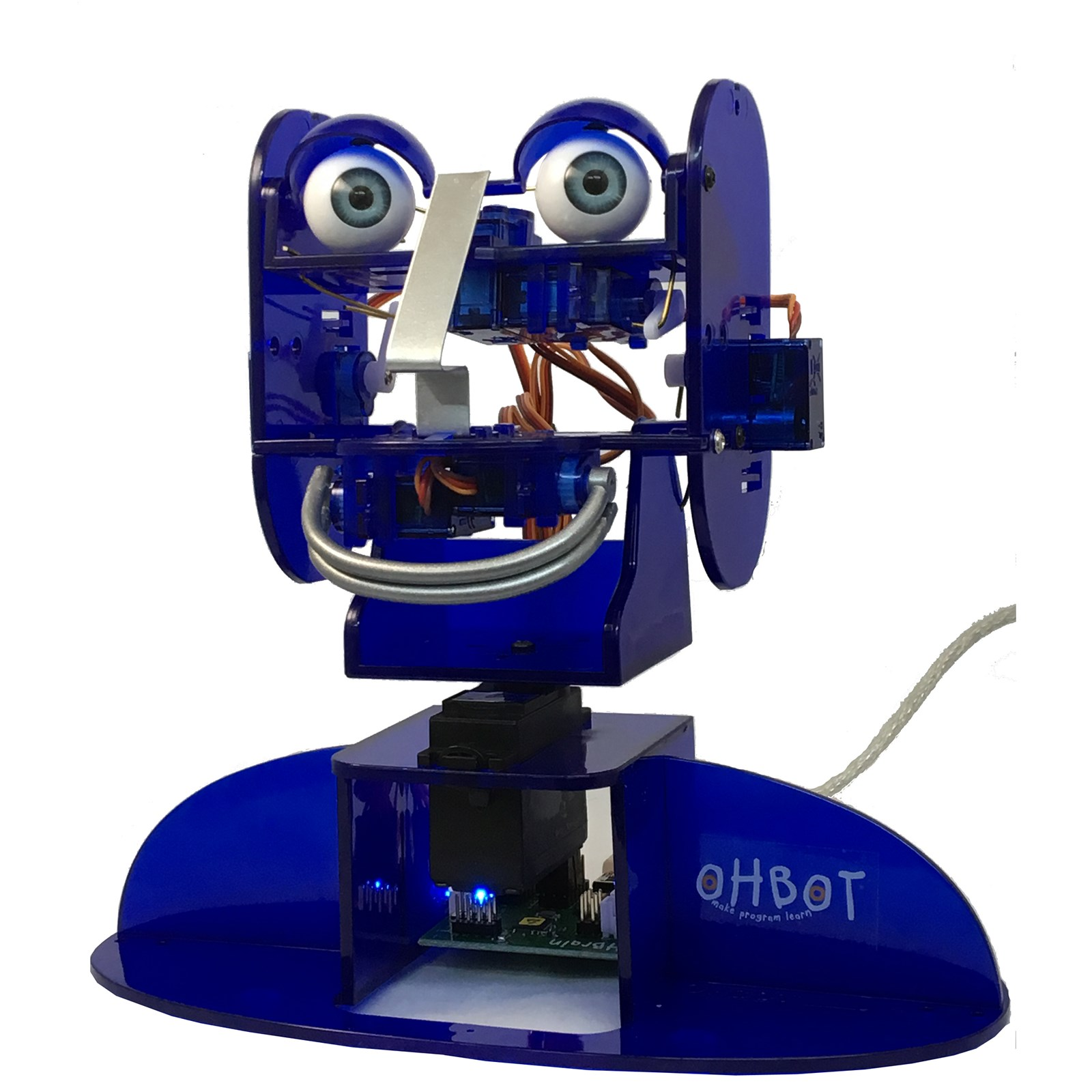 Ohbot 2.1 Educational Robot Assembled with 4 user software licence for Windows