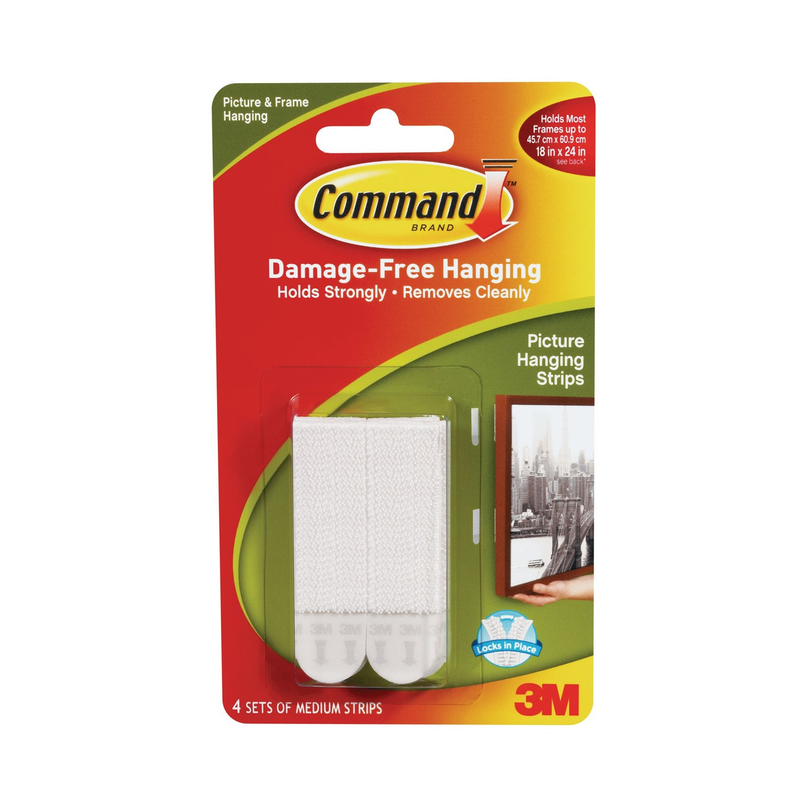 Command Picture Hanging Strips White Medium- Pack of 4