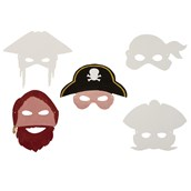 Pirate Masks Pack of 16