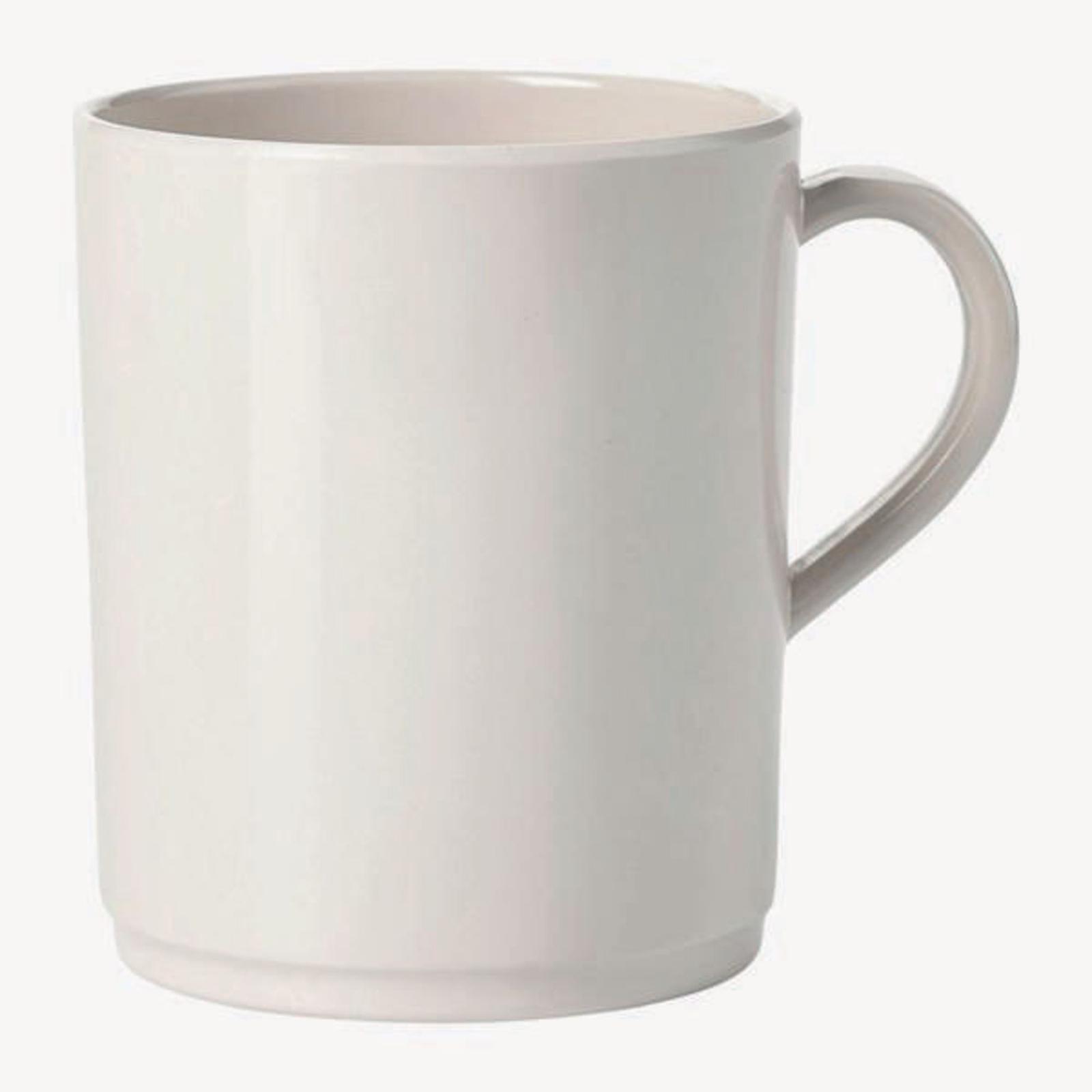White Melamine Tableware - 310ml Mugs