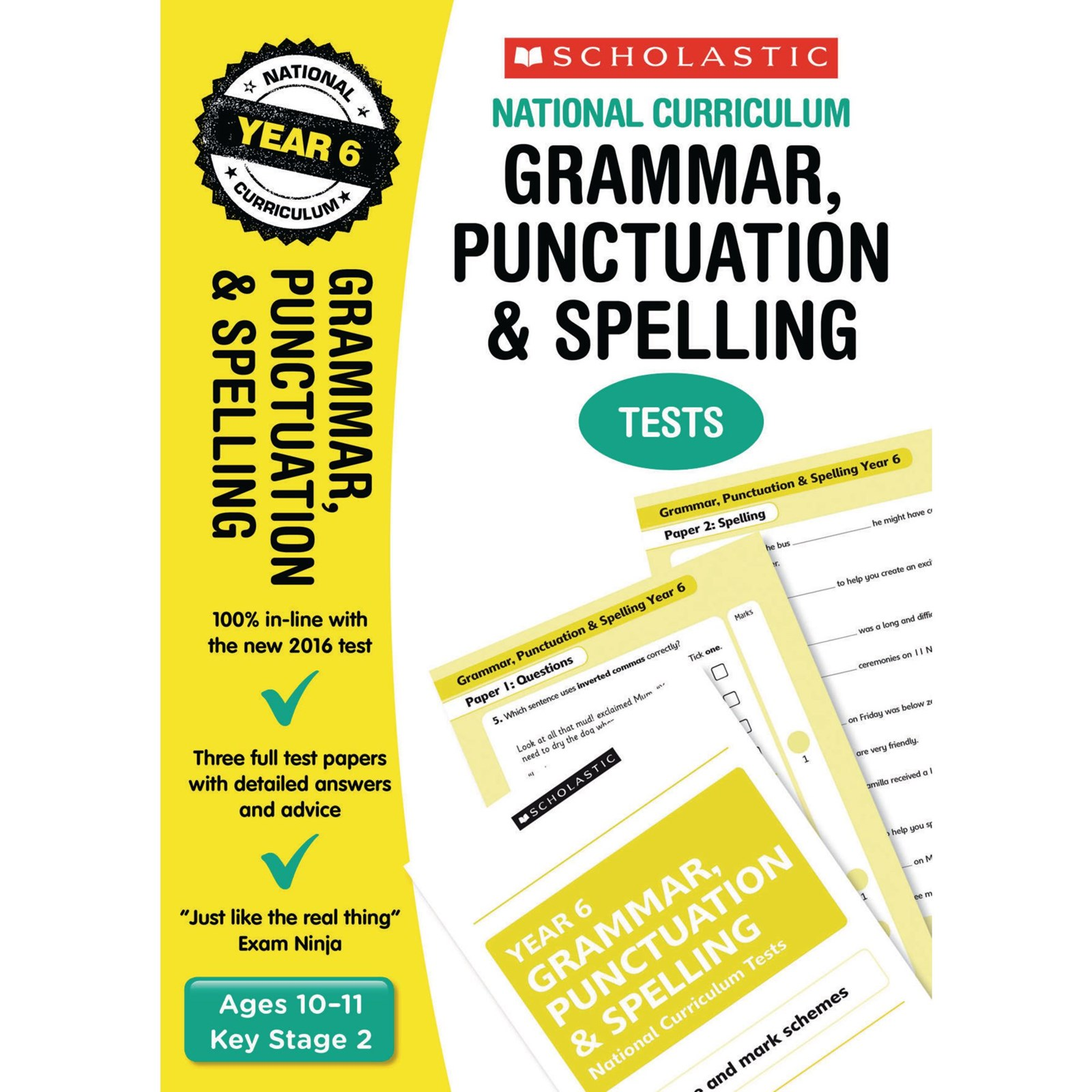 grammar punctuation spelling tests year 6