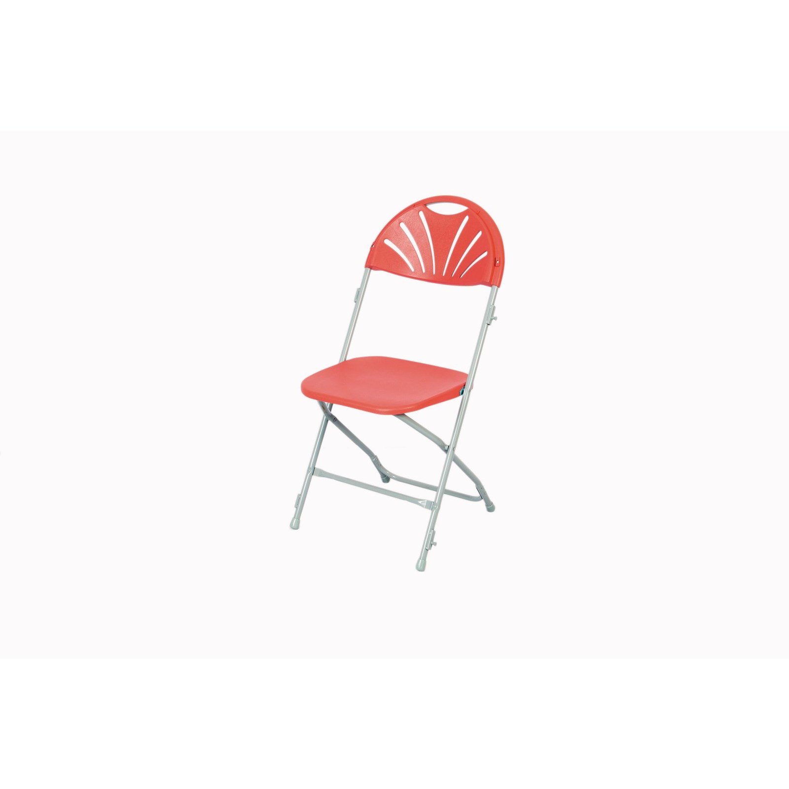 Fan Back Folding Link Chair Burg