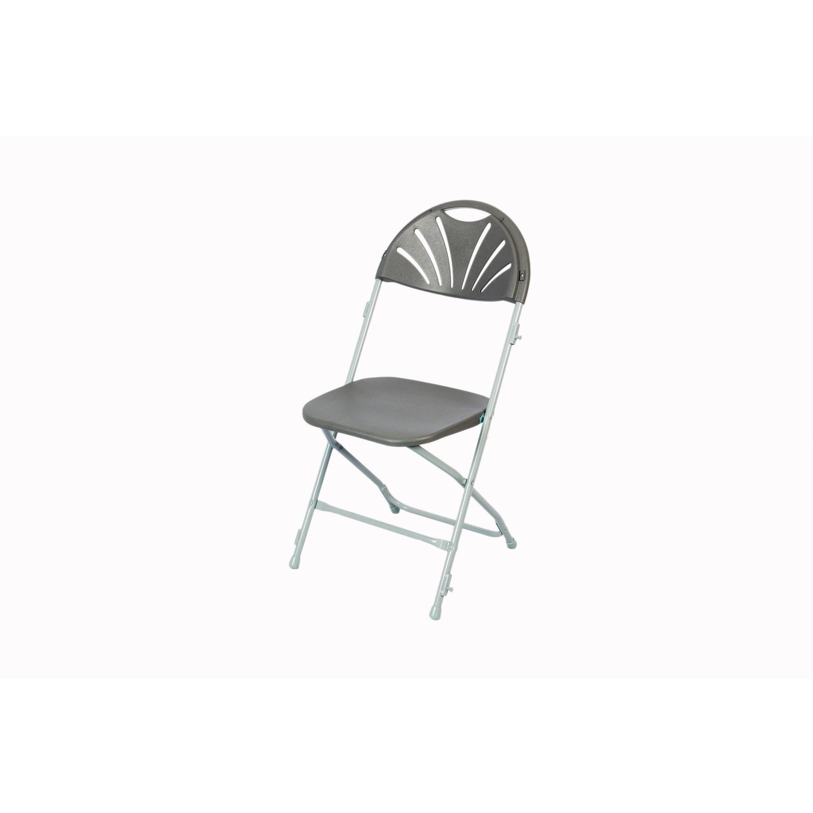 Fan Back Folding Link Chair Grey
