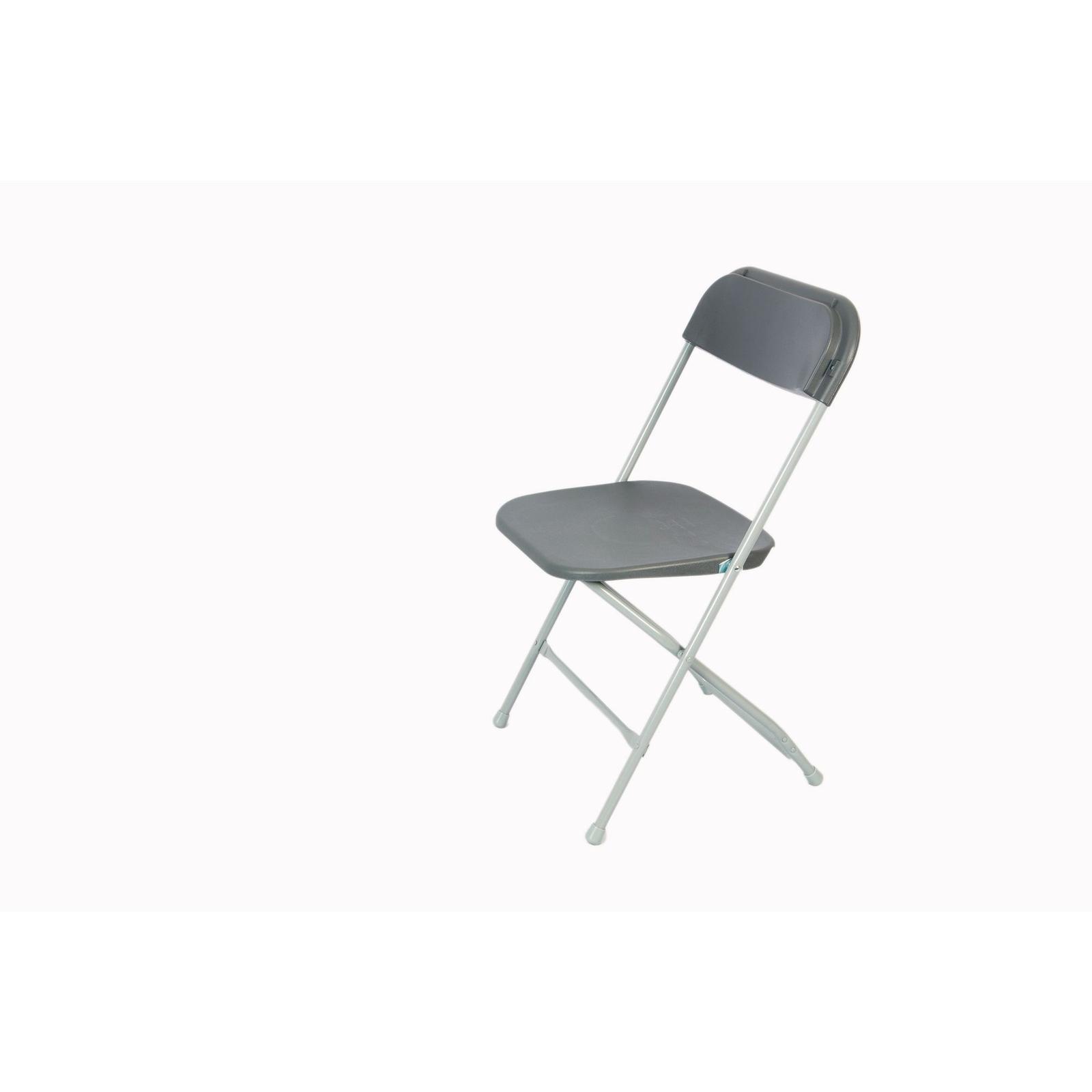 Straight Back Folding Chair Blue