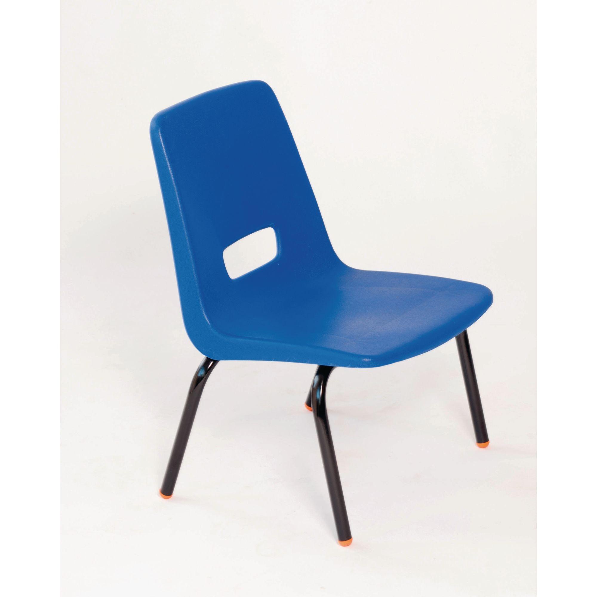 P3 Chair 380mm Black Frame Brown