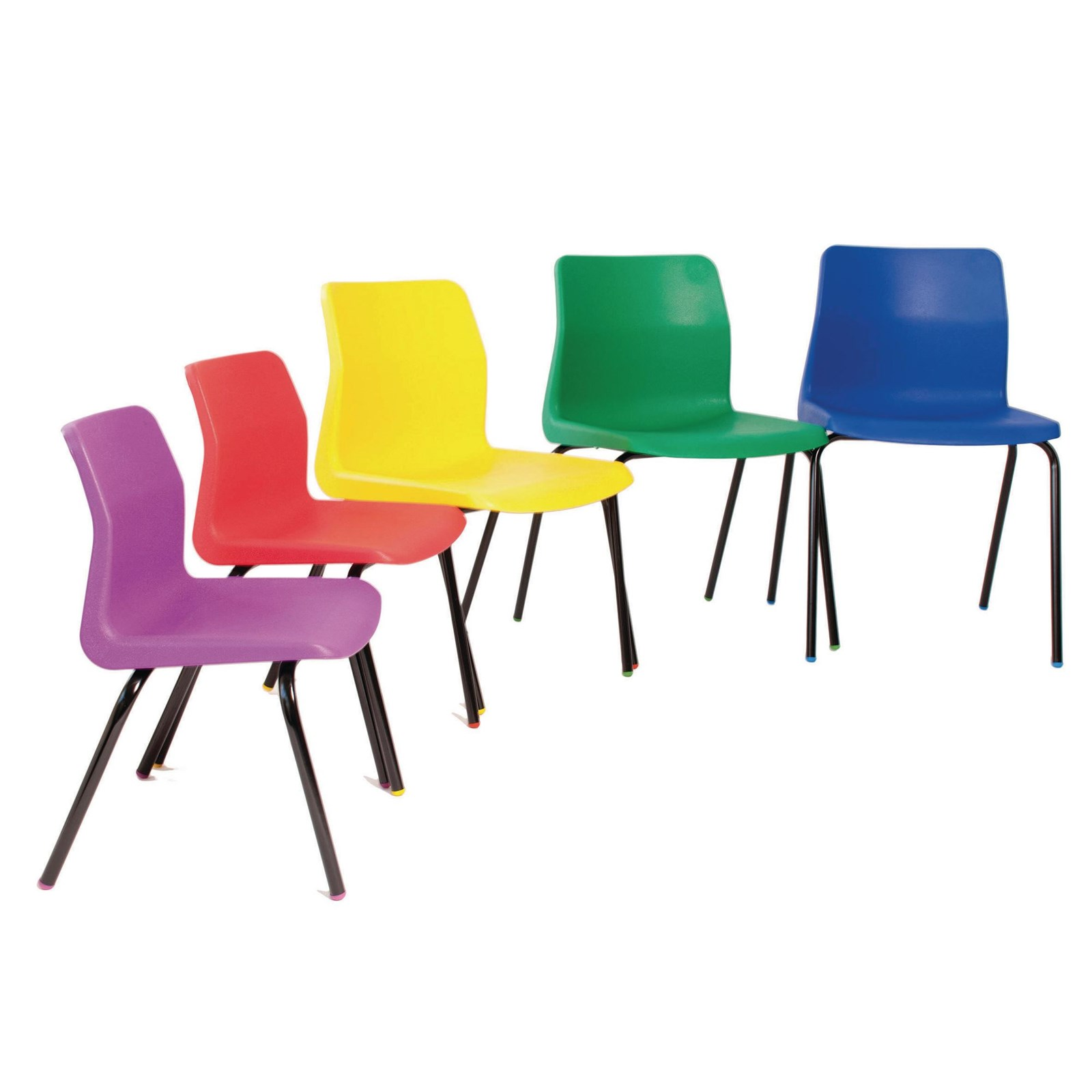 P6 Chair 260mm Blk Frm Brwn