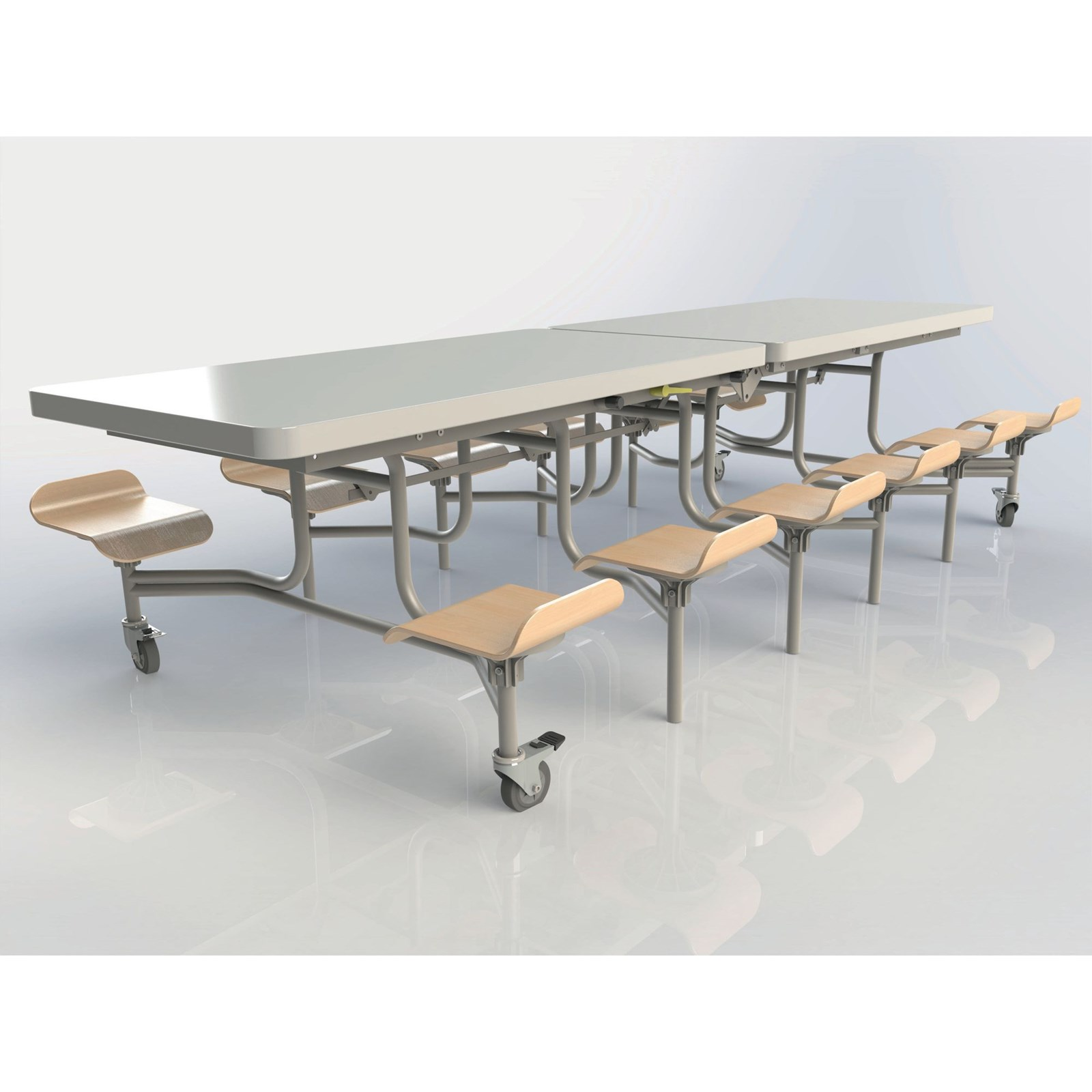 12 seat rect table h767mm seats white gls educational for 12 seat table