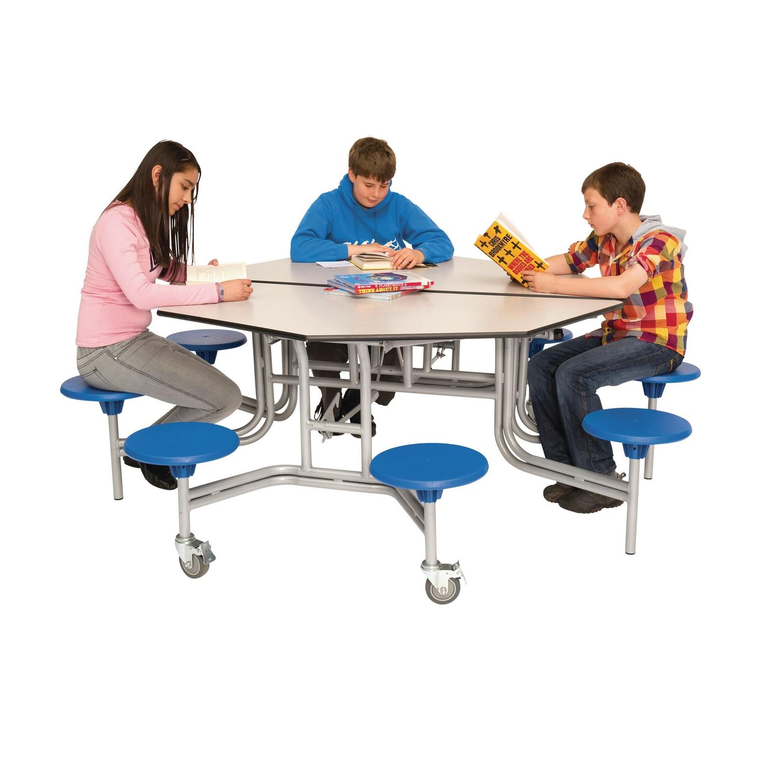 Octagonal Mob Folding Table H735mm Blue