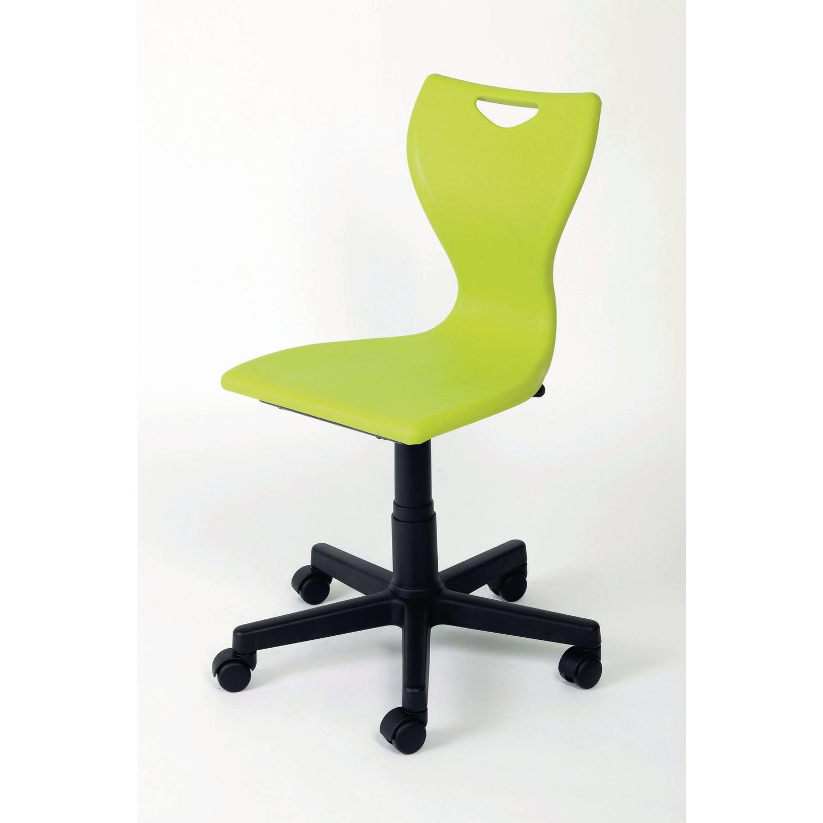 En50 Computer Chair Black Castors Orange