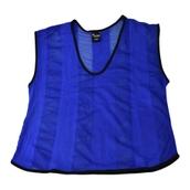 Precision Striped Mesh Bib, 26-28in - Blue