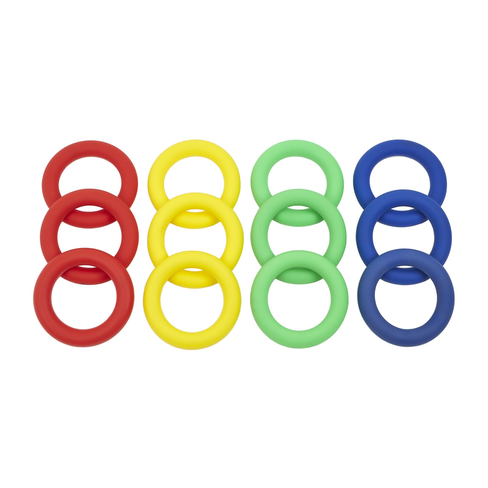 PVC Ring Pack - 12 mixed colours