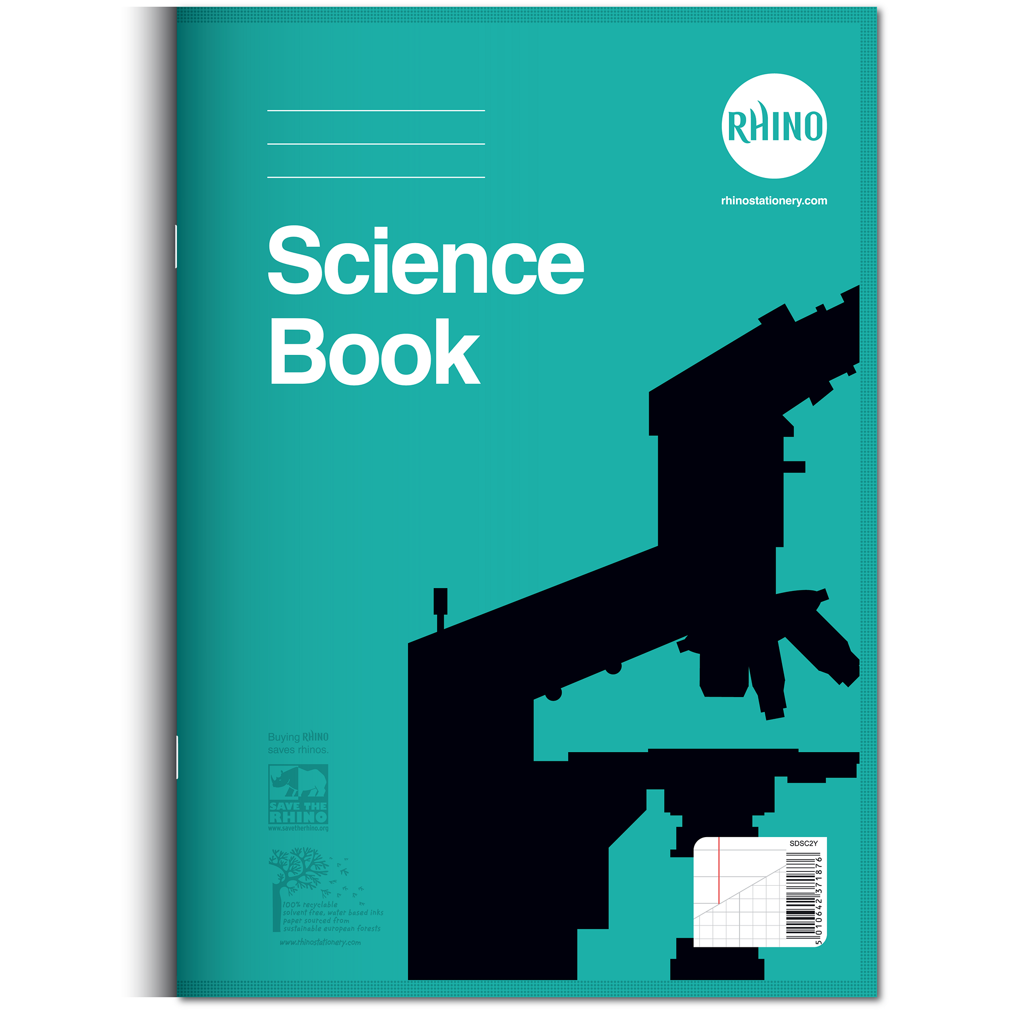 Science Facts Exercise: Rhino Science Exercise Book - 8mm Ruled & Graph
