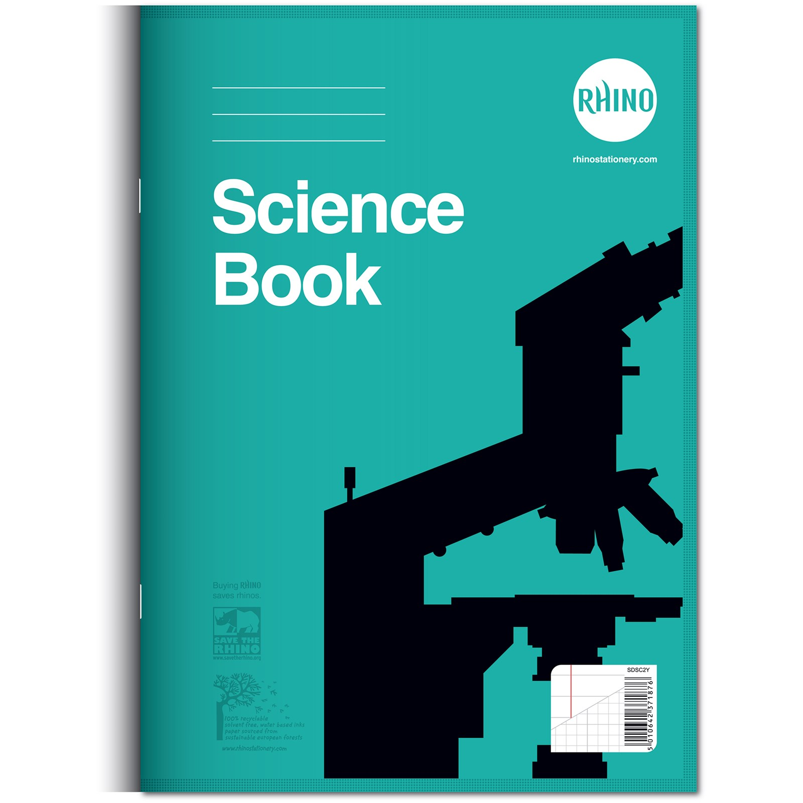 Rhino Science Exercise Book - 8mm ruled & graph