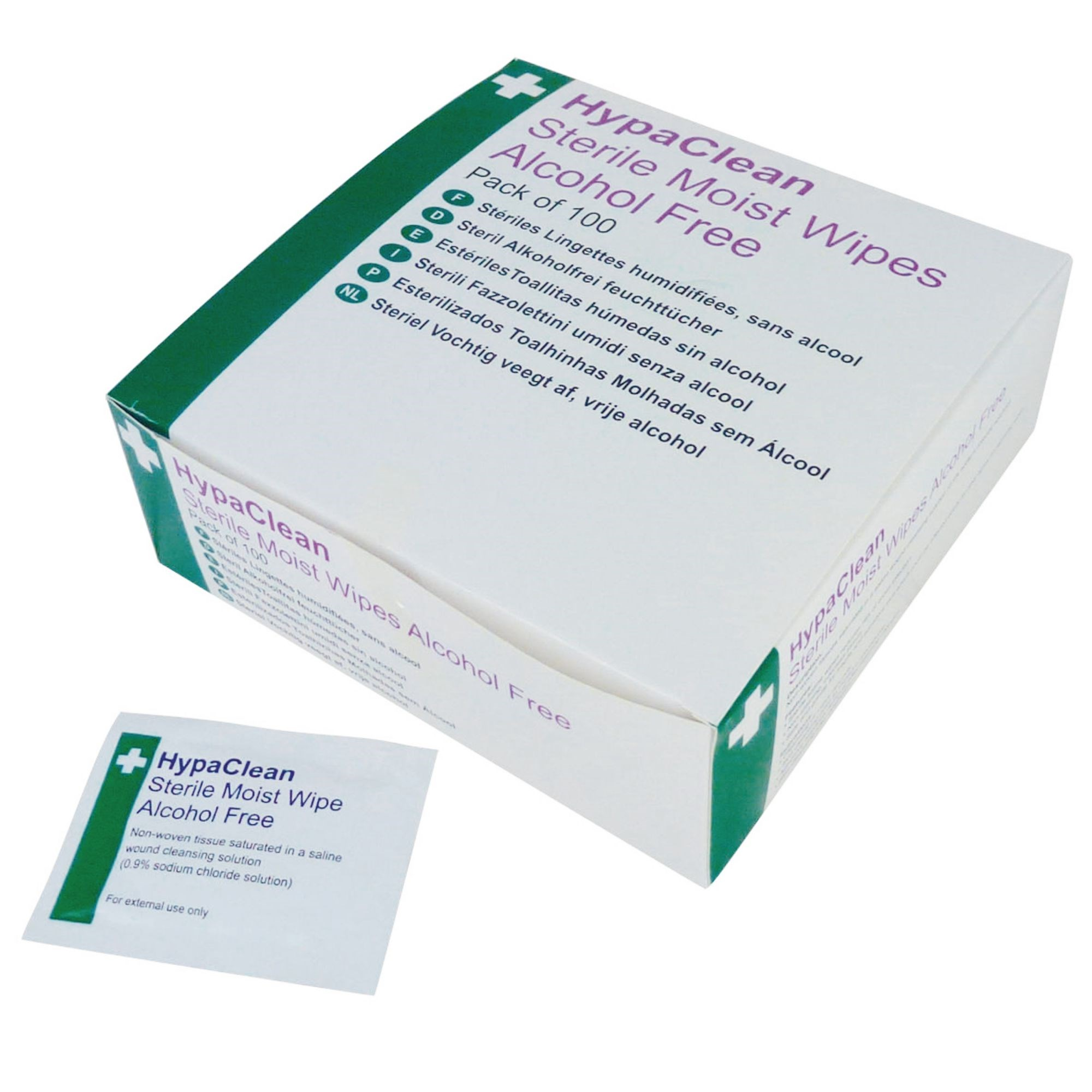 Hypaclean Sterile Wipes Box Of 100