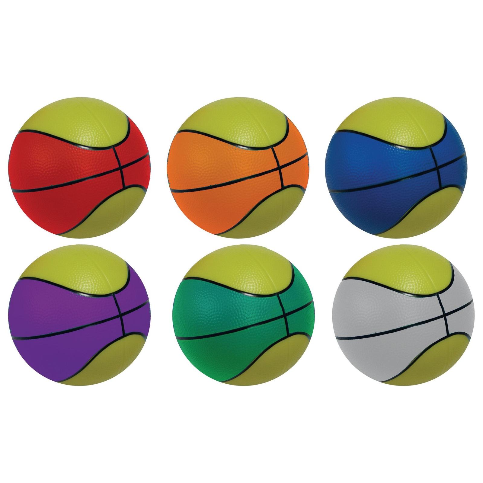 Retro Basketballs - Pack of 6