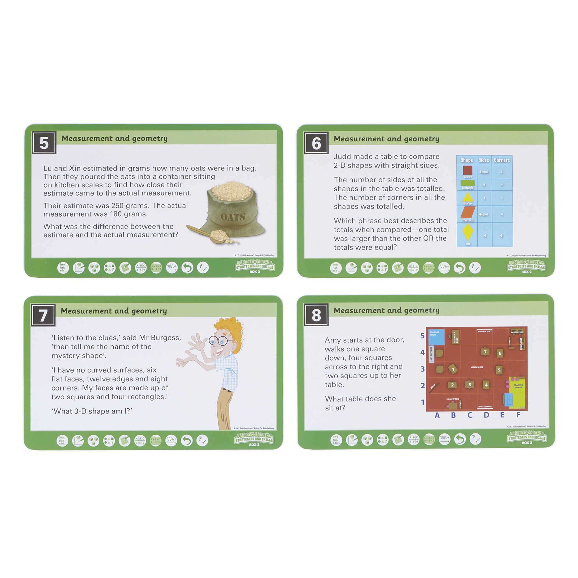 HOPE Maths Problem Solving Cards Year 2 - Measurement and Geometry