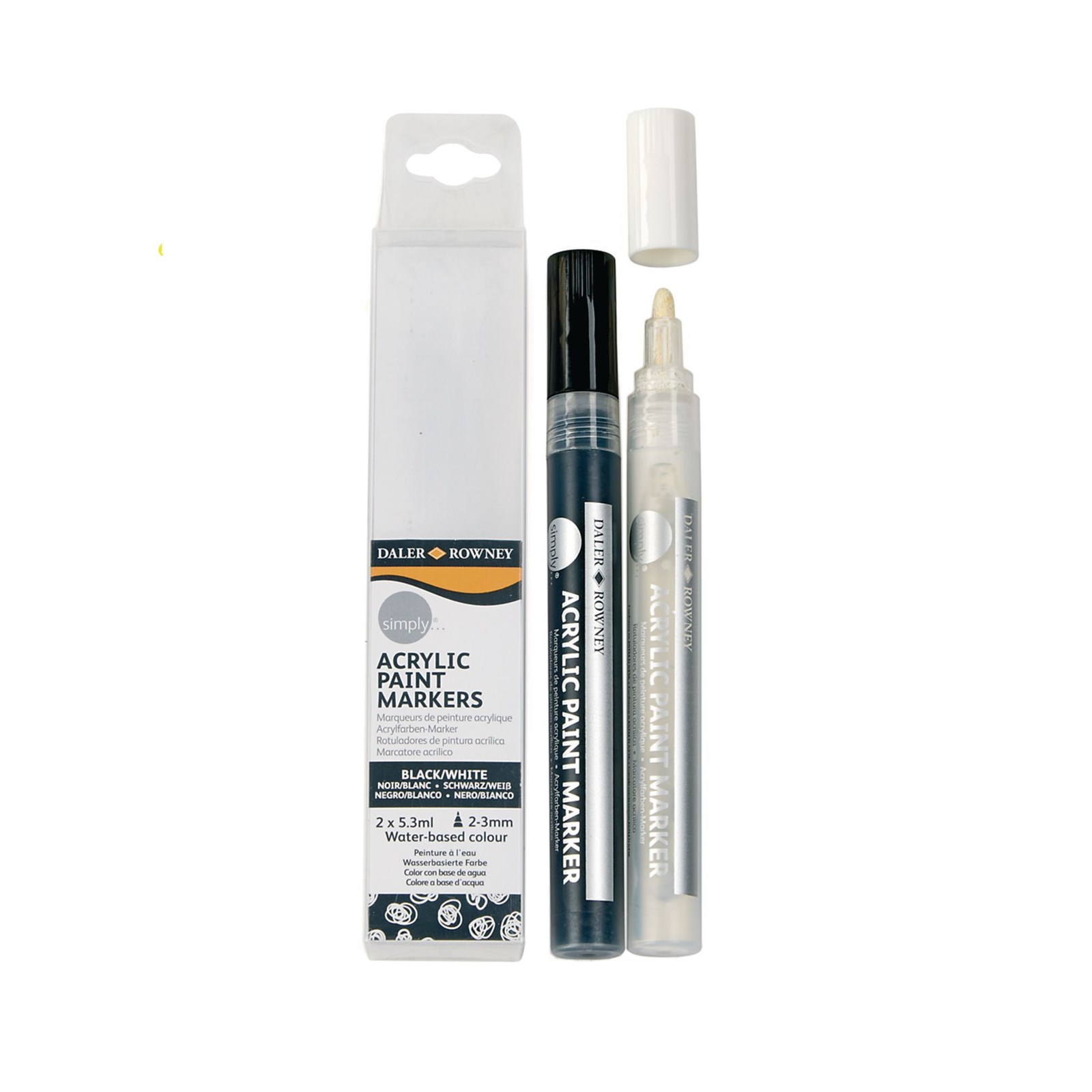 Acrylic Paint Markers Black and White