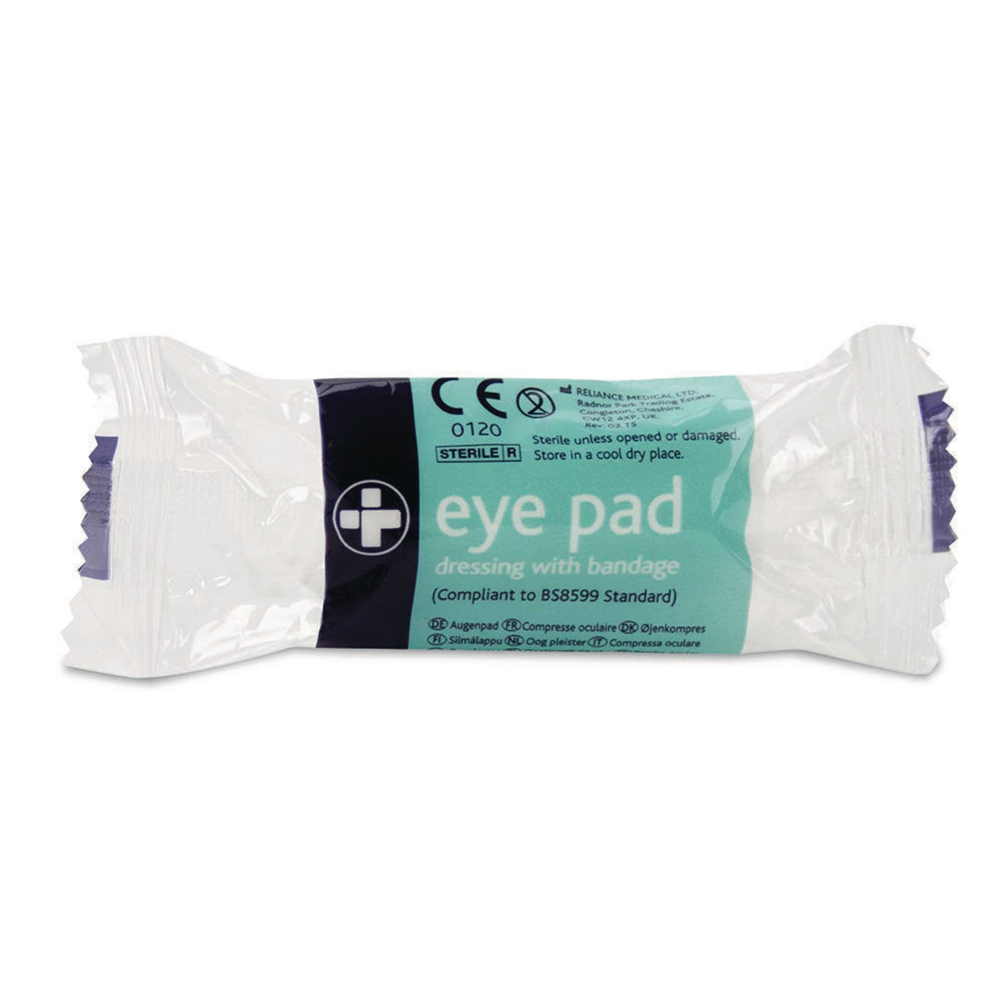 Eye Pad Dressing With Bandage