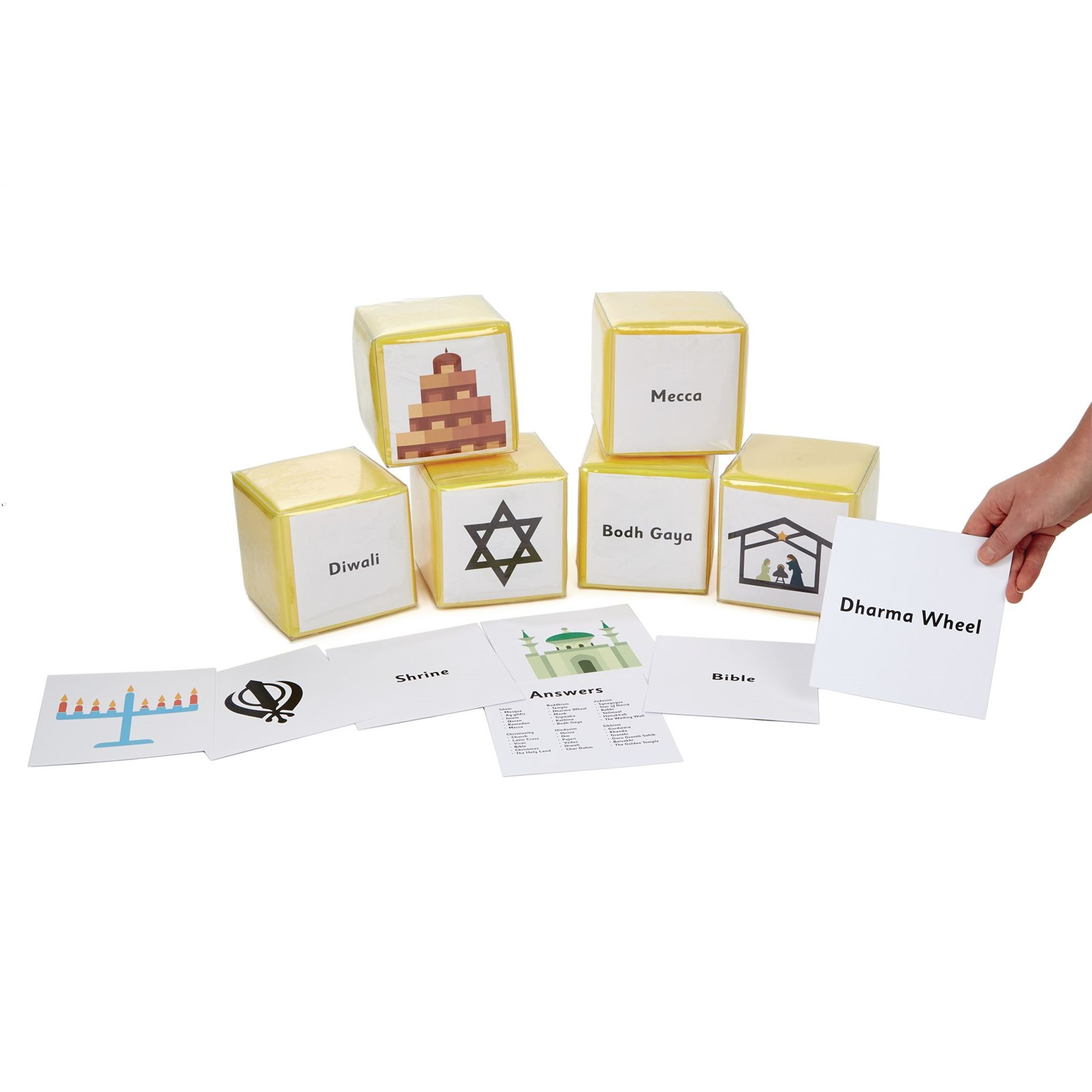 World Faith Symbols Dice Cards