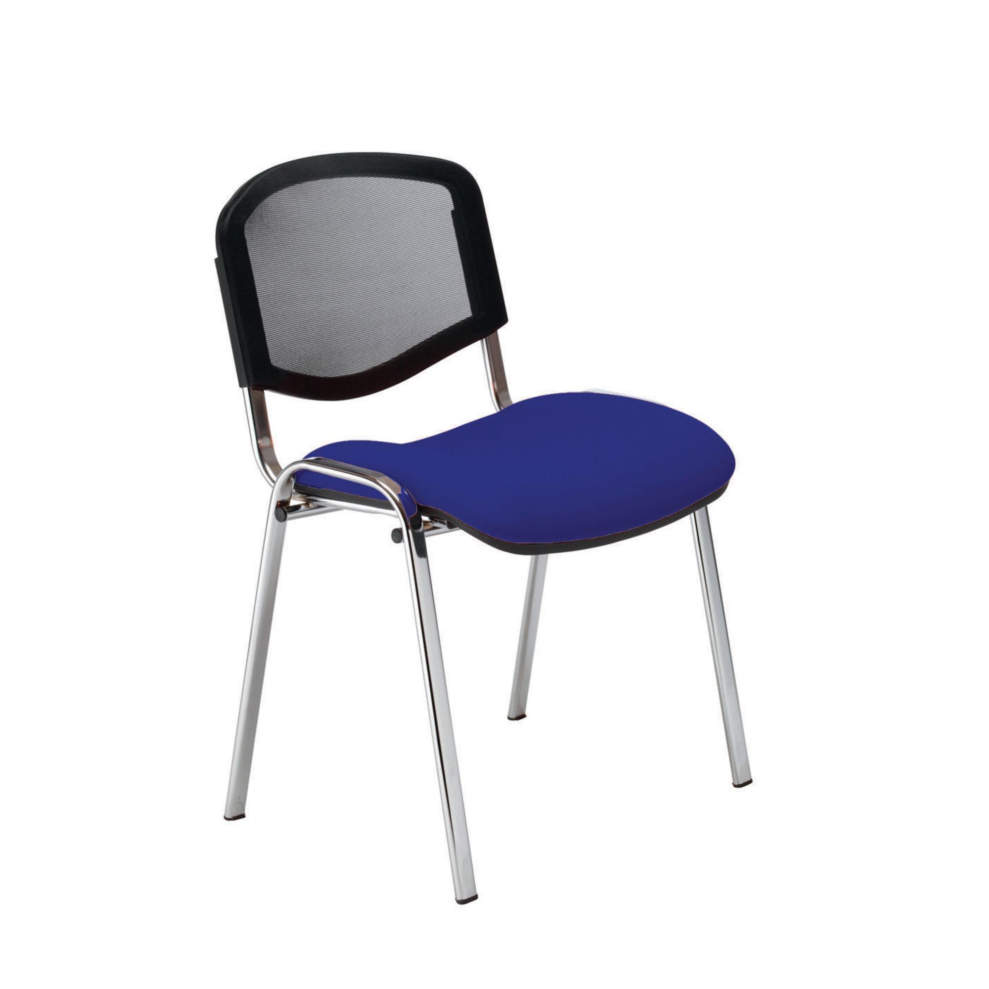 Classmates ISO Mesh Visitor Chair Chrome Frame Blue
