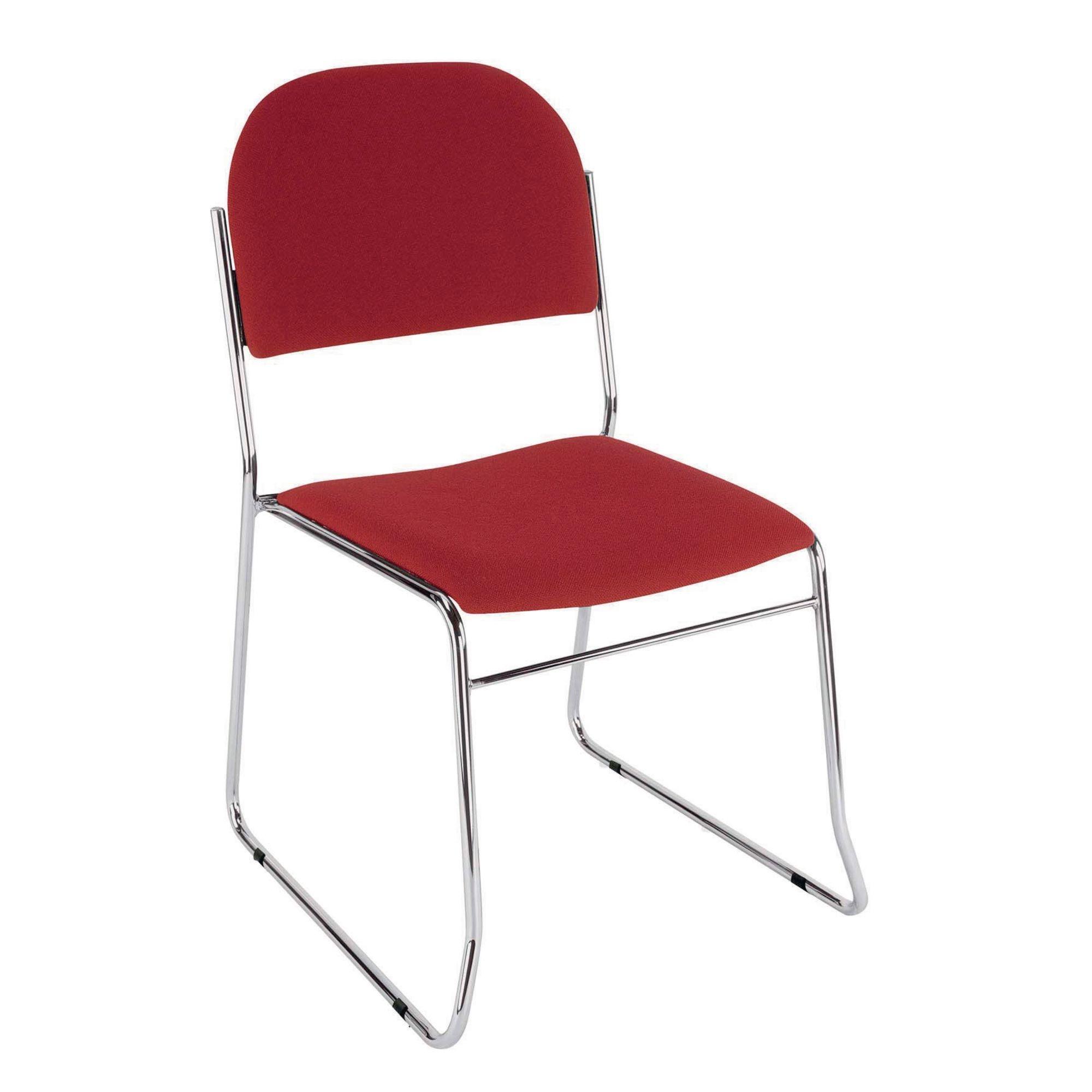 Classmates Skidbase Stacking Chair Burgundy