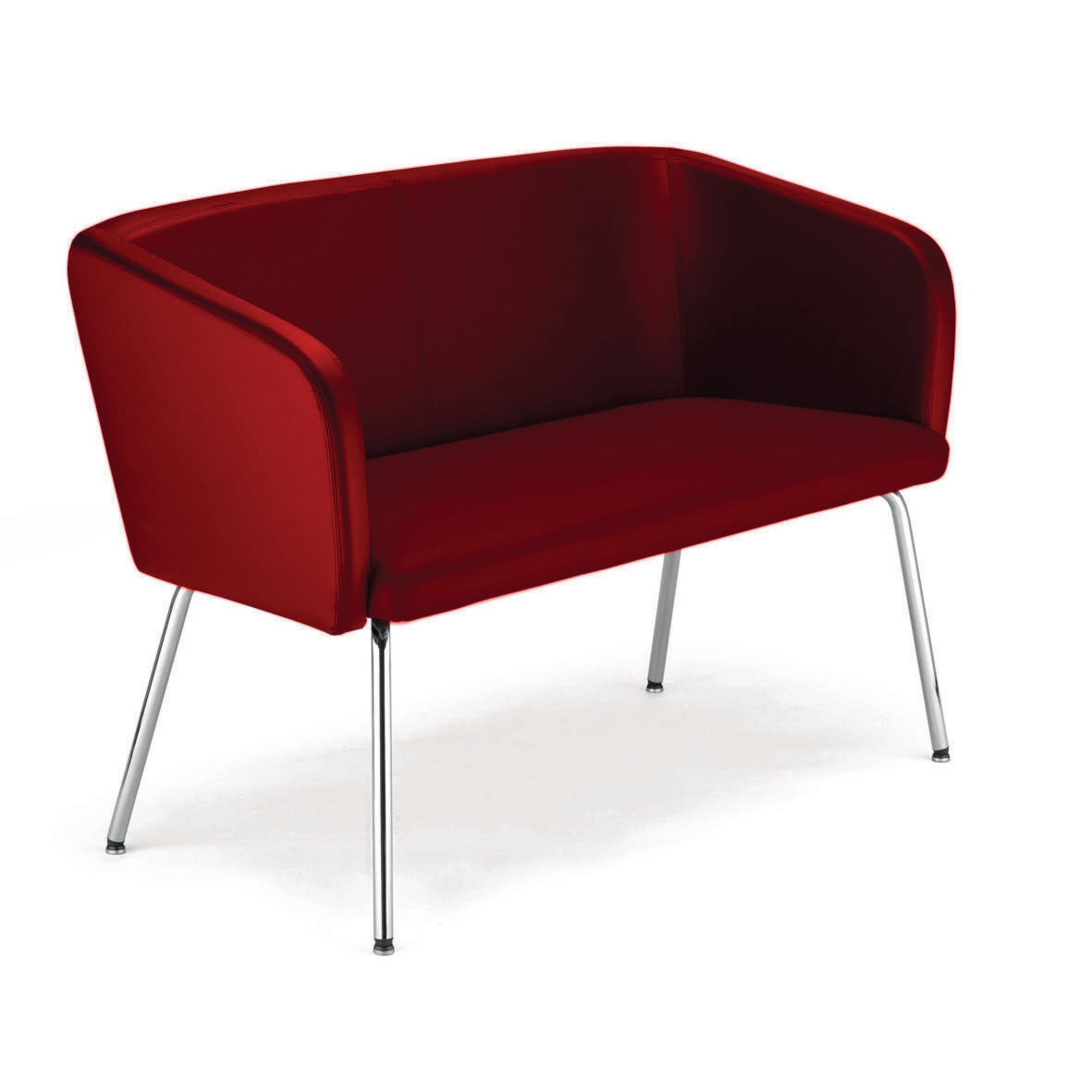 Hello 2 Seater Sofa Faux Leather Burg