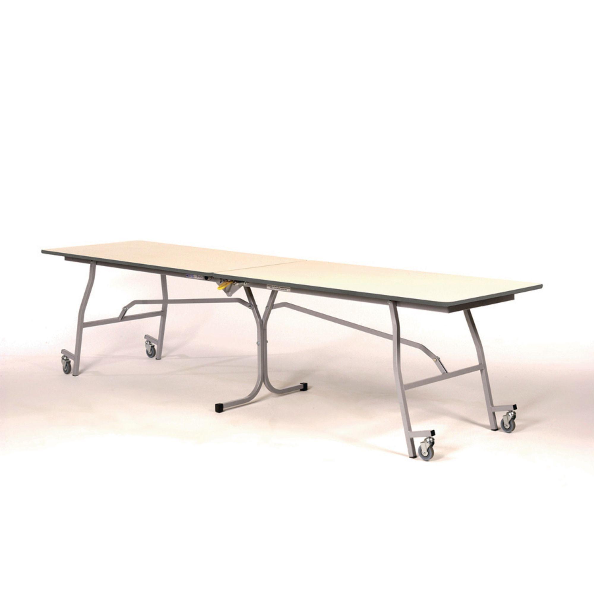 LB Mobile Folding Table 1800 x 750 x 690mm Blue