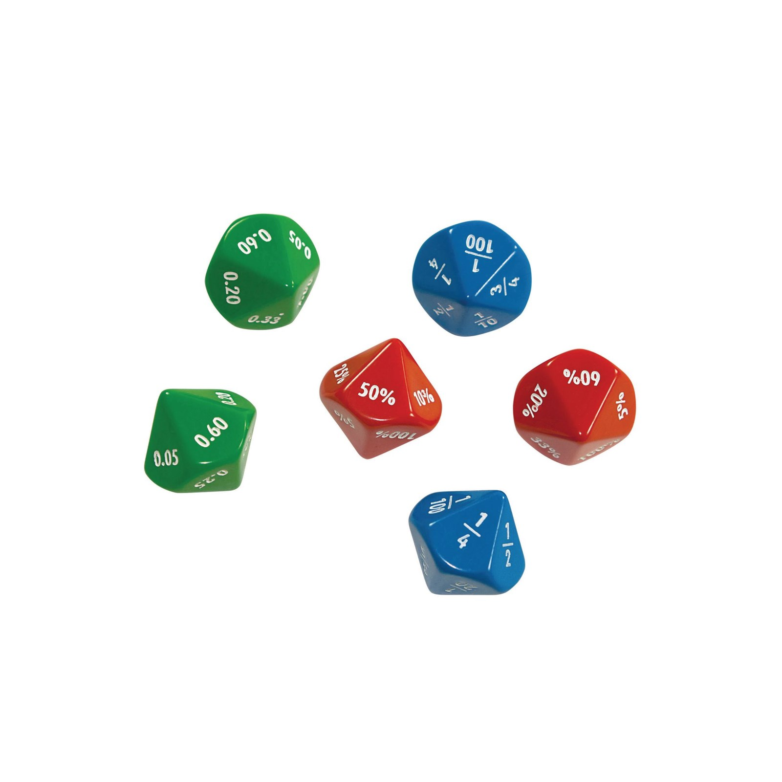 Equivalence Dice - Pack of 6
