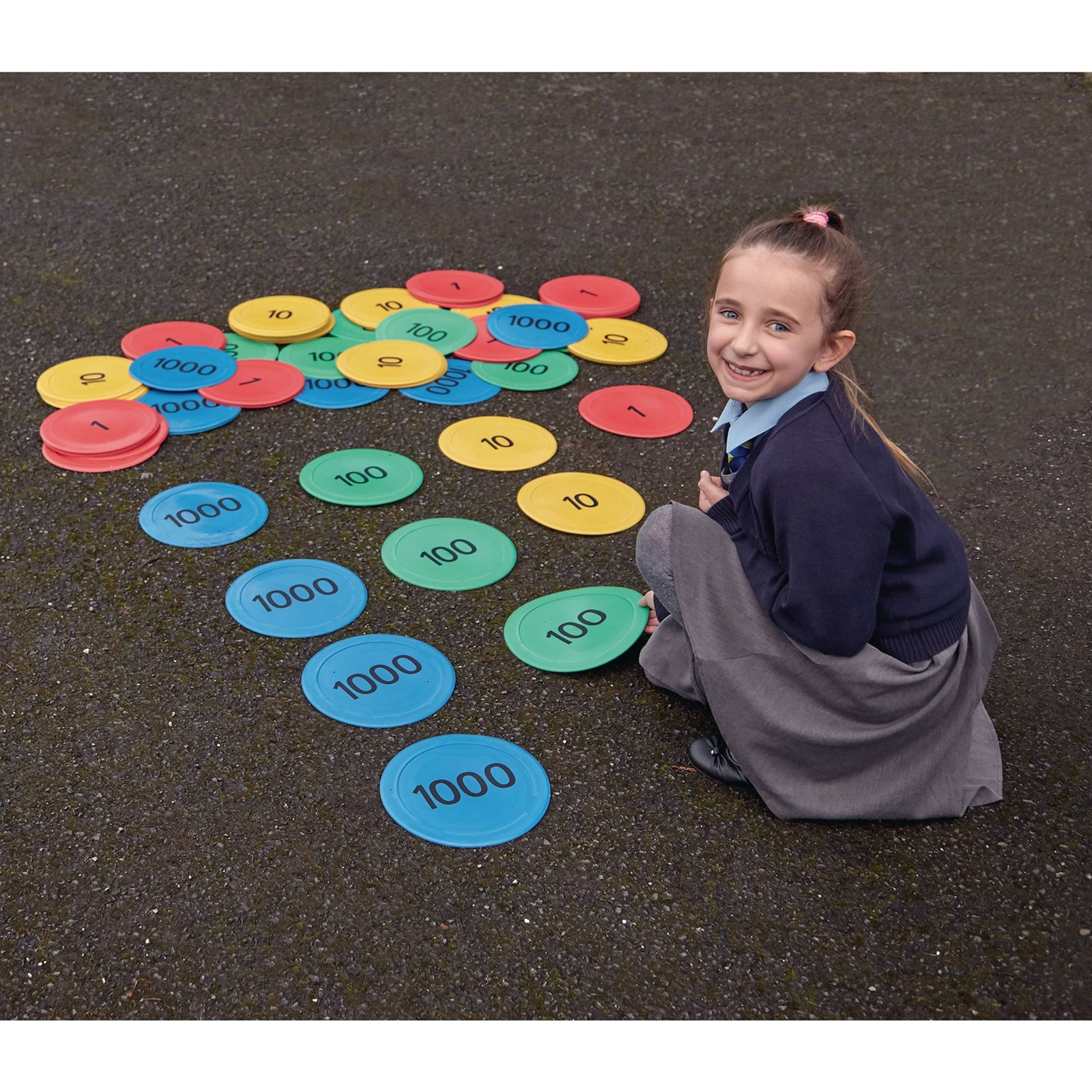Indoor/Outdoor Place Value Counter Mats