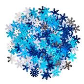 Blue Mix Snowflakes