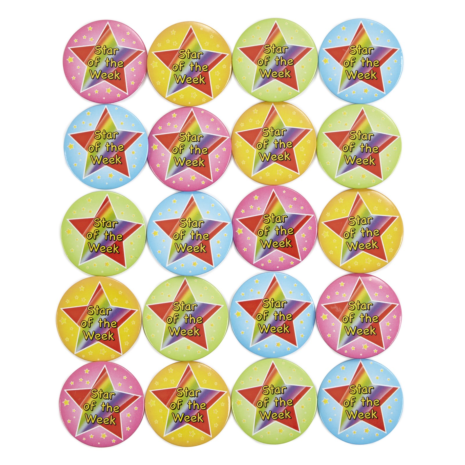 Star of the Week Badges - Pack of 20