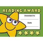 Reading Award Mini Certificates