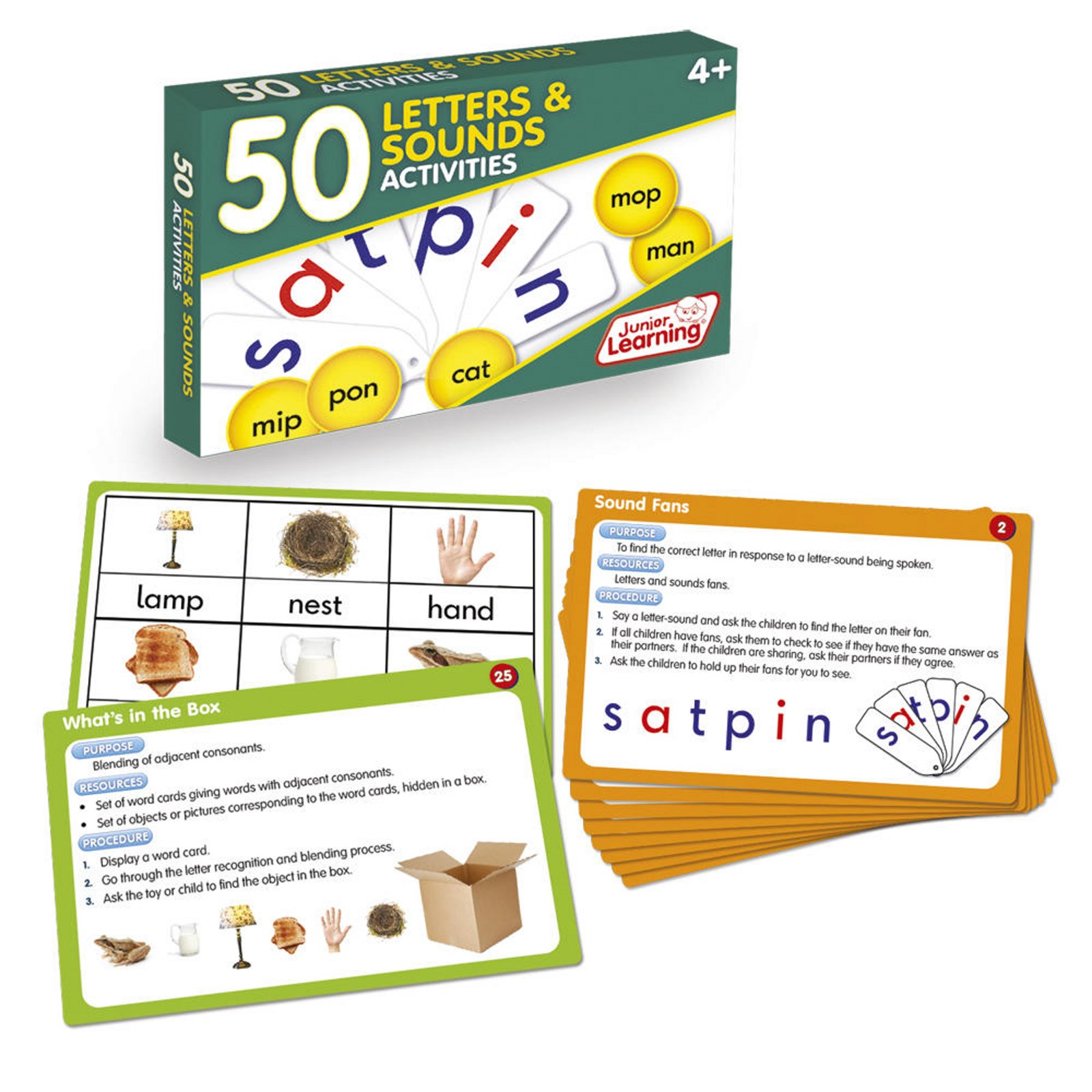 50 Letters and Sounds Activity Cards