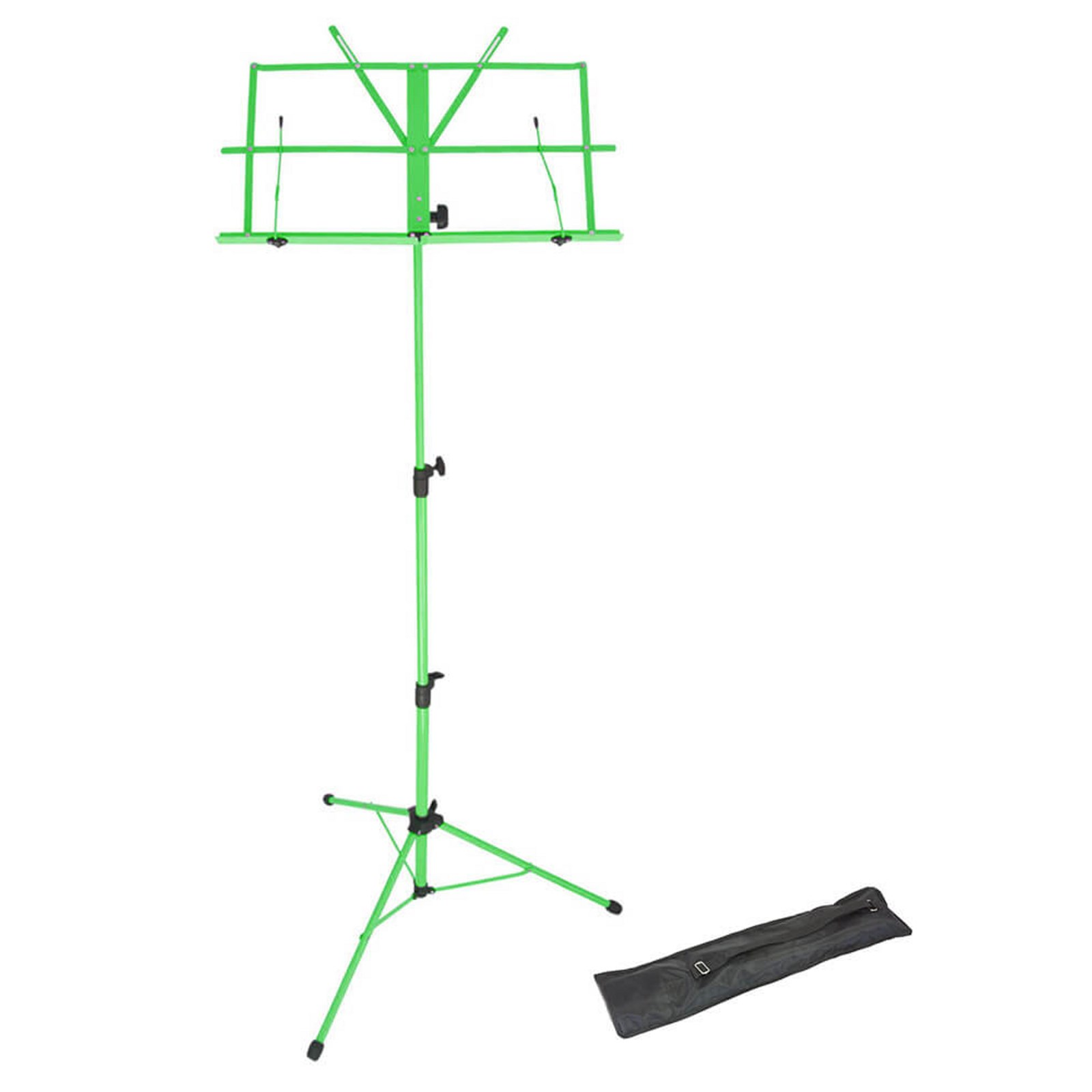 Foldaway Adjustable Music Stand - Green
