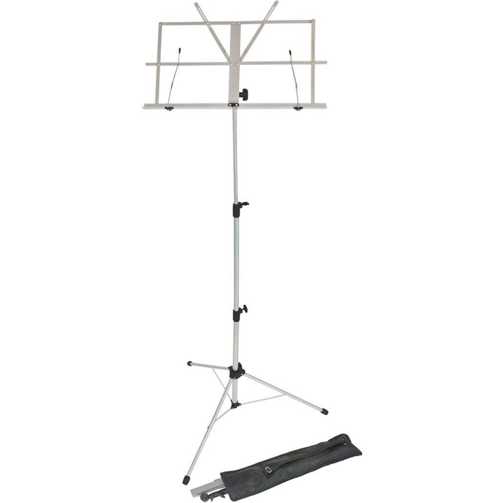 Foldaway Adjustable Music Stand - Grey