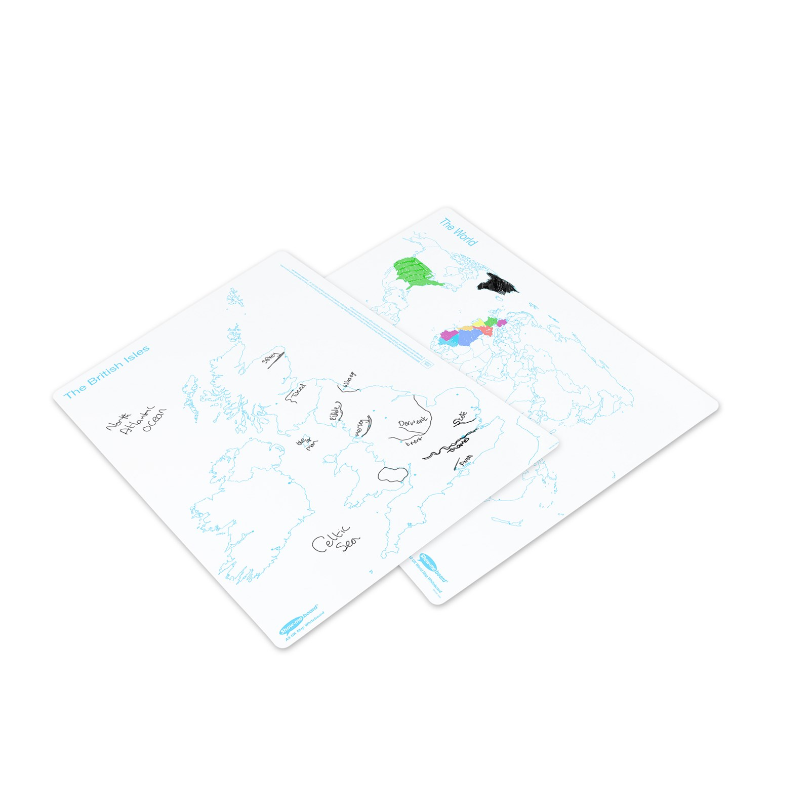 World and UK A3 Whiteboards